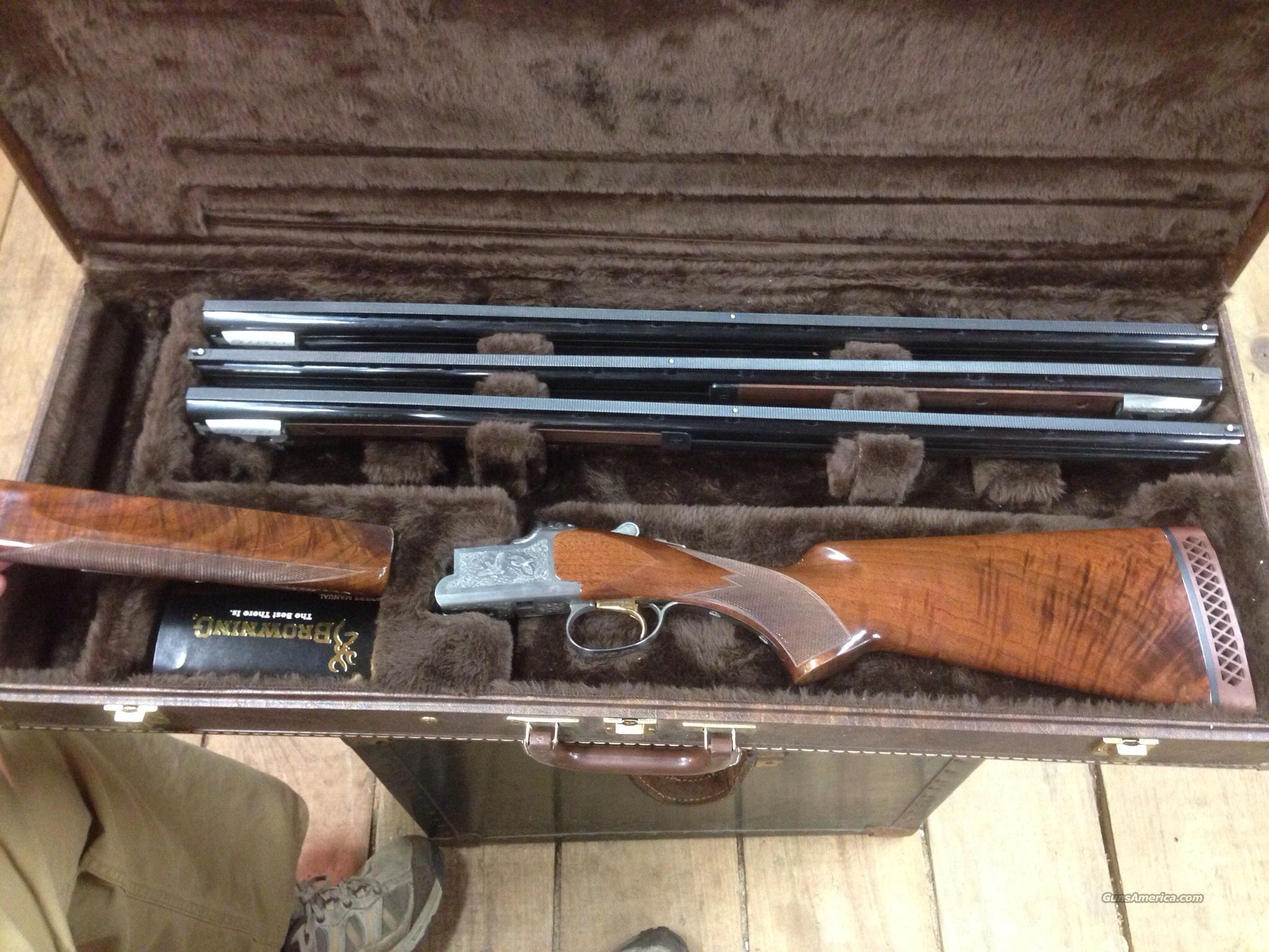 BROWNING CITORI GRADE III    (THREE  GAUGE SET)  Guns > Shotguns > Browning Shotguns > Over Unders > Citori > Trap/Skeet