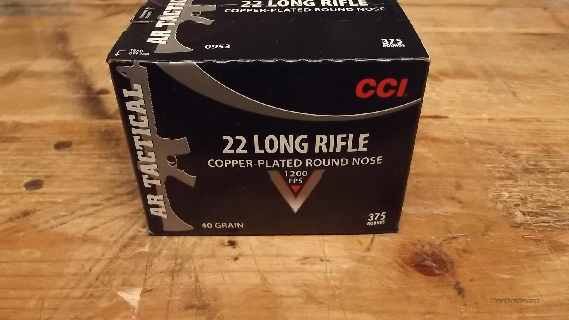 CCI    TACTICAL  22 AMMO         375 COUNT  Non-Guns > Ammunition