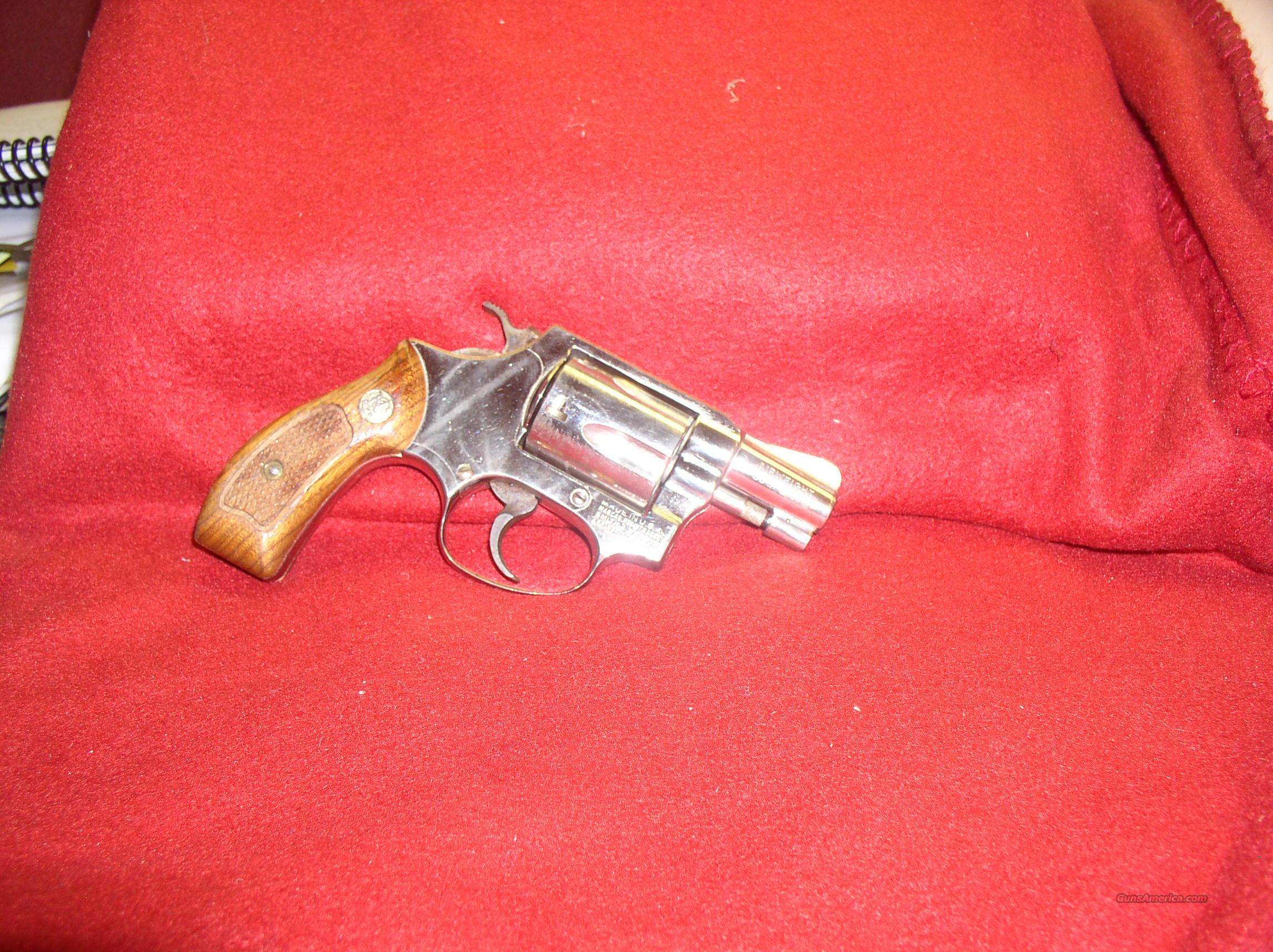 SMITH WESSON 37  AIRWEIGHT   NICKEL  Guns > Pistols > Smith & Wesson Revolvers > Pocket Pistols