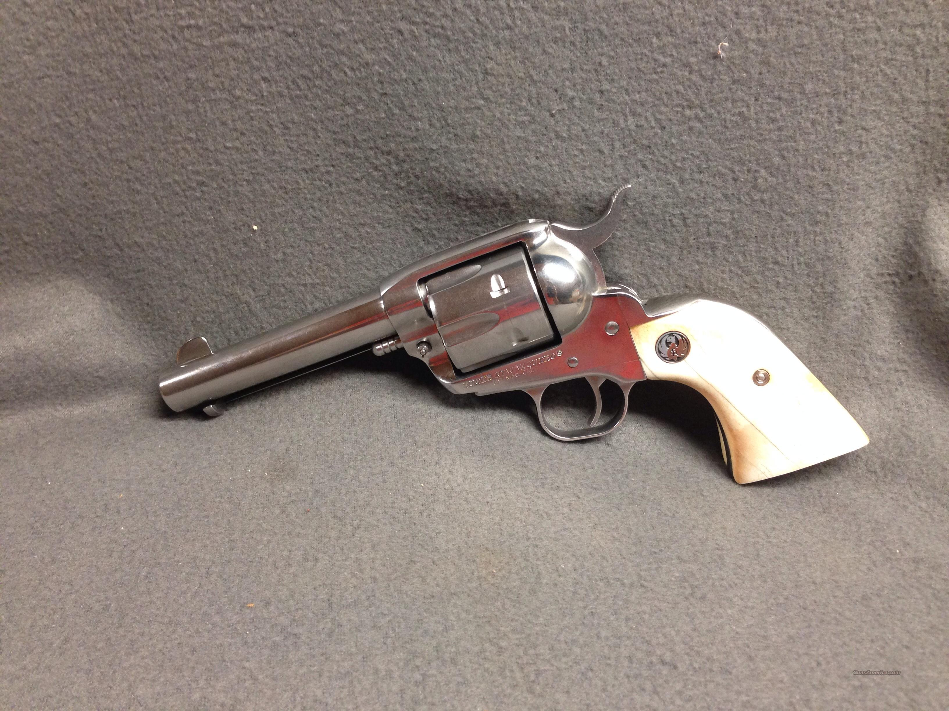 Ruger  New Vaquero   357     with GIRAFFE BONE GRIPS  Guns > Pistols > Ruger Single Action Revolvers > Blackhawk Type