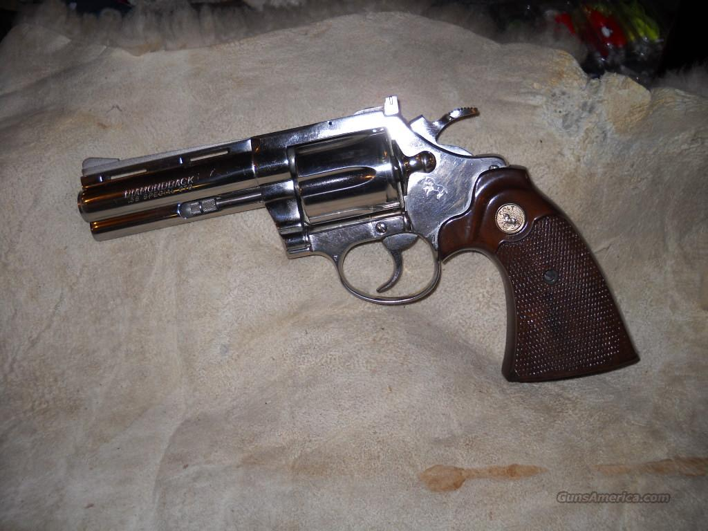 COLT DIAMONDBACK    38  NICKEL     4INCH  Guns > Pistols > Colt Double Action Revolvers- Modern