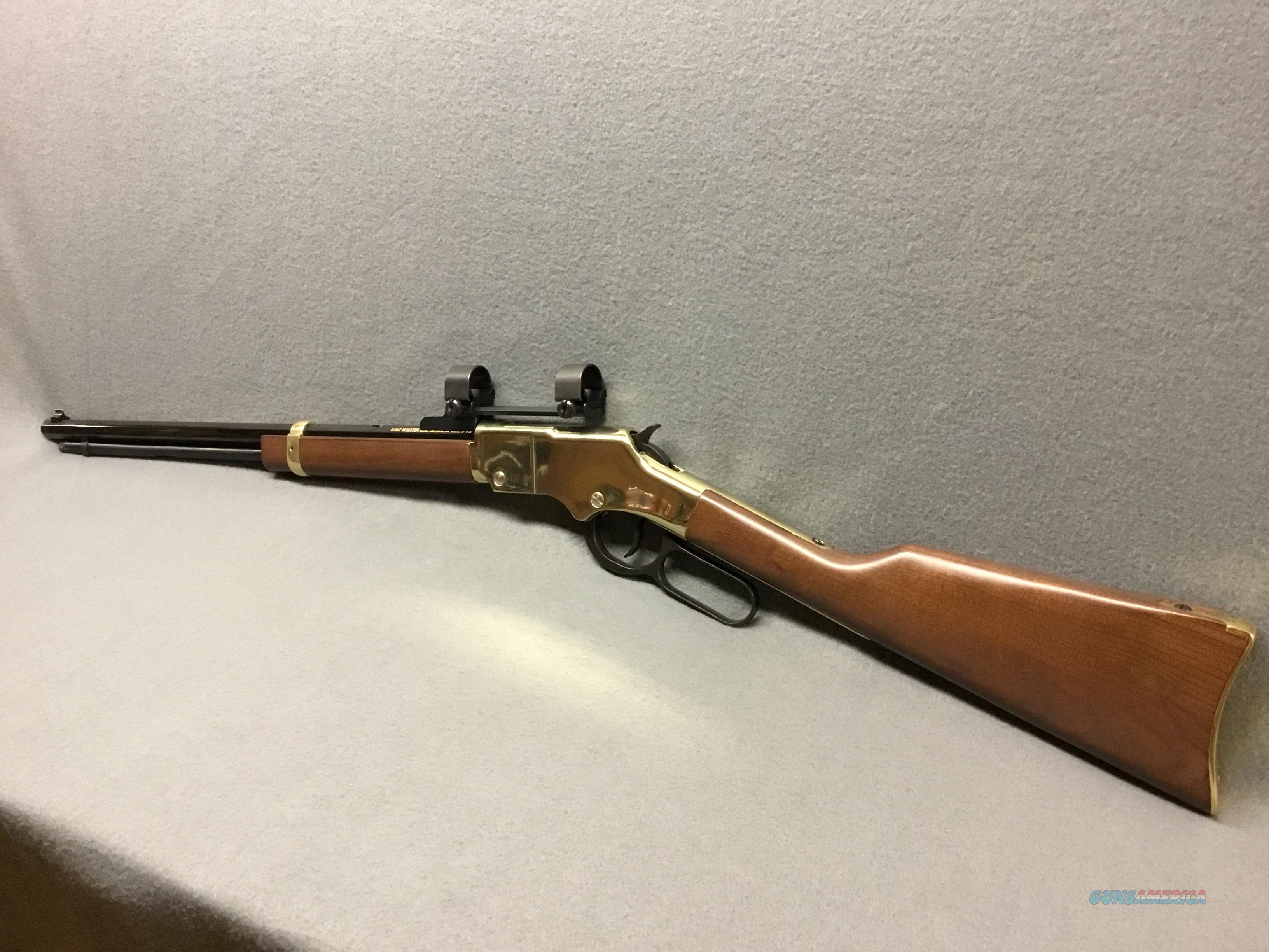 HENRY  GOLDEN BOY    LIKE NEW    WITH  RINGS AND BASES  Guns > Rifles > Henry Rifles - Replica