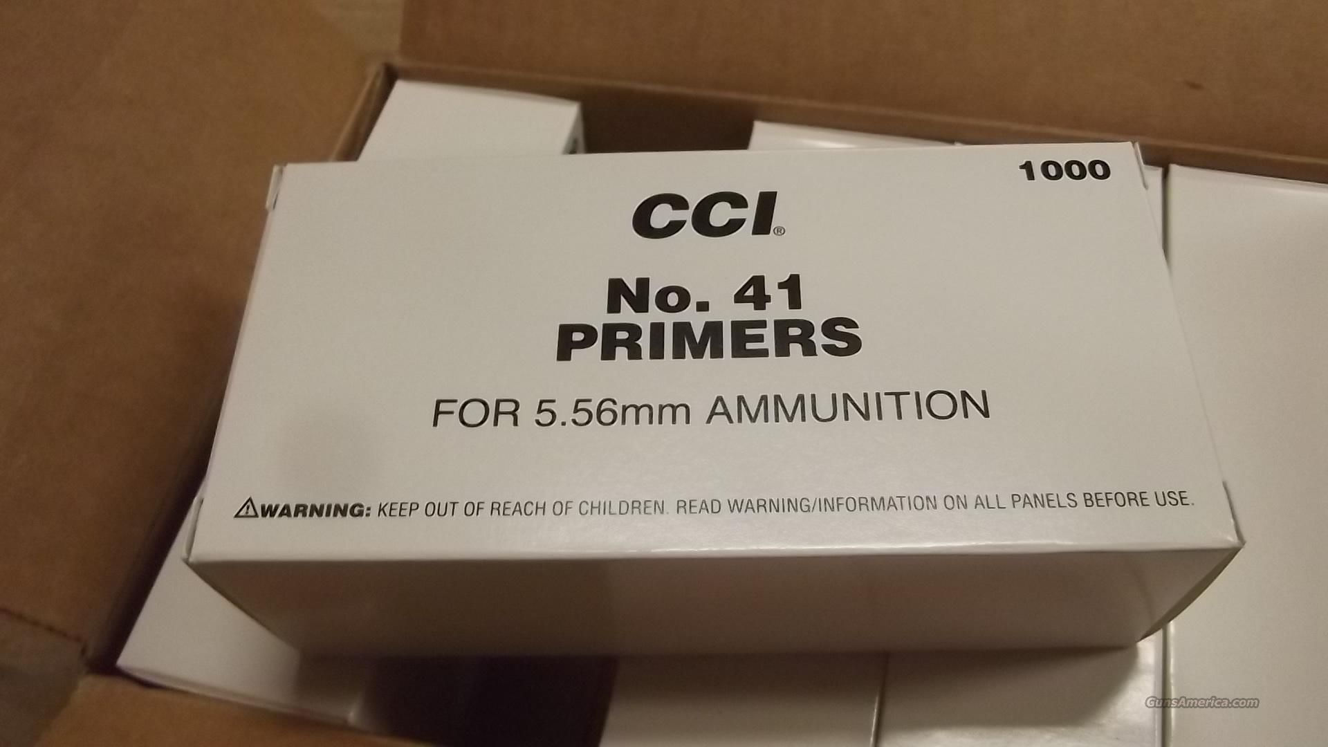 CCI   #41  MILITARY GRADE  SMALL RIFLE& LARGE RIFLE  PRIMERS  Non-Guns > Reloading > Components > Other