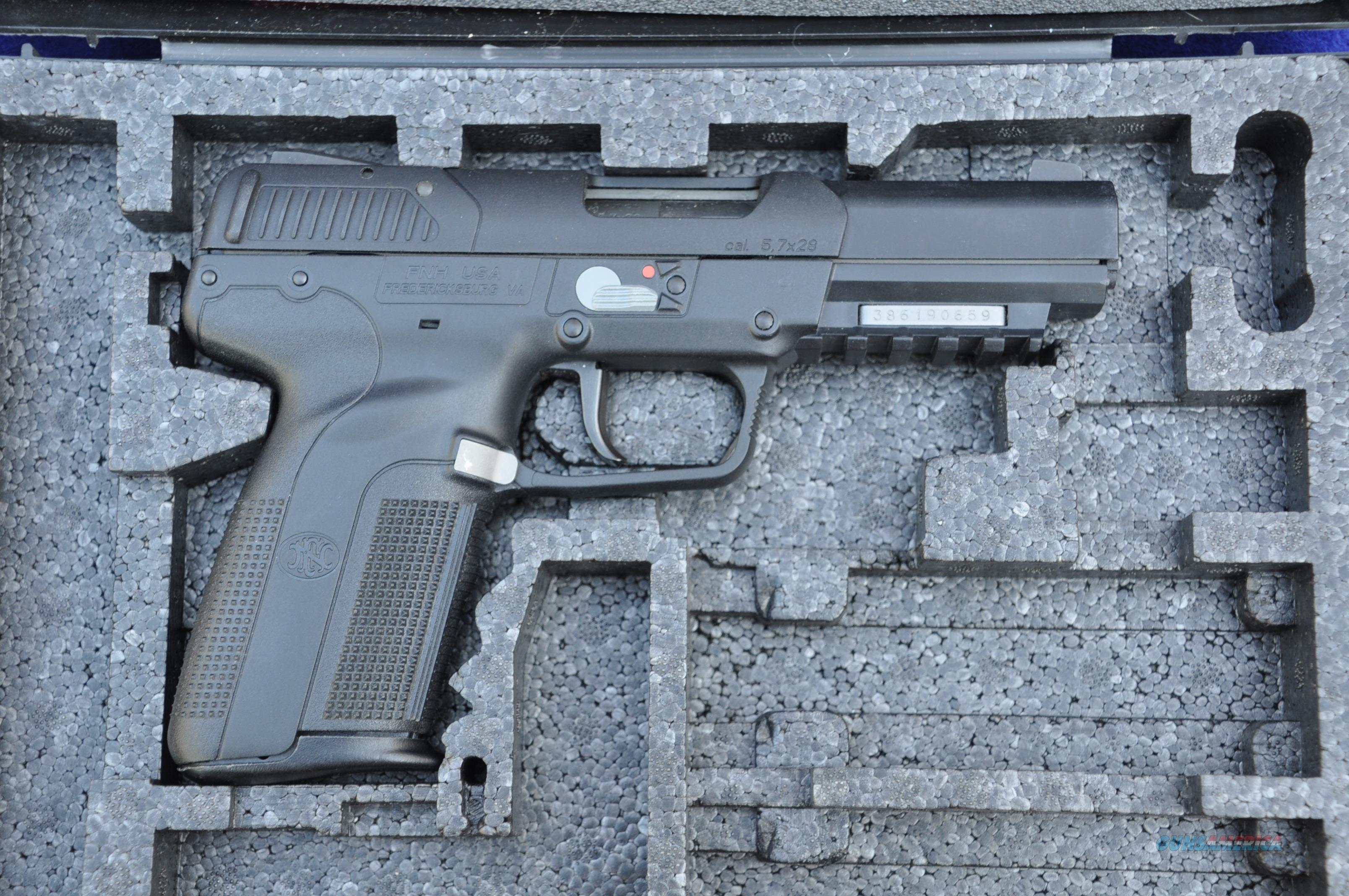 FN Five-seveN IOM USG Tactical model w/metal serial number plate 2 mags appears new  Guns > Pistols > FNH - Fabrique Nationale (FN) Pistols > FiveSeven