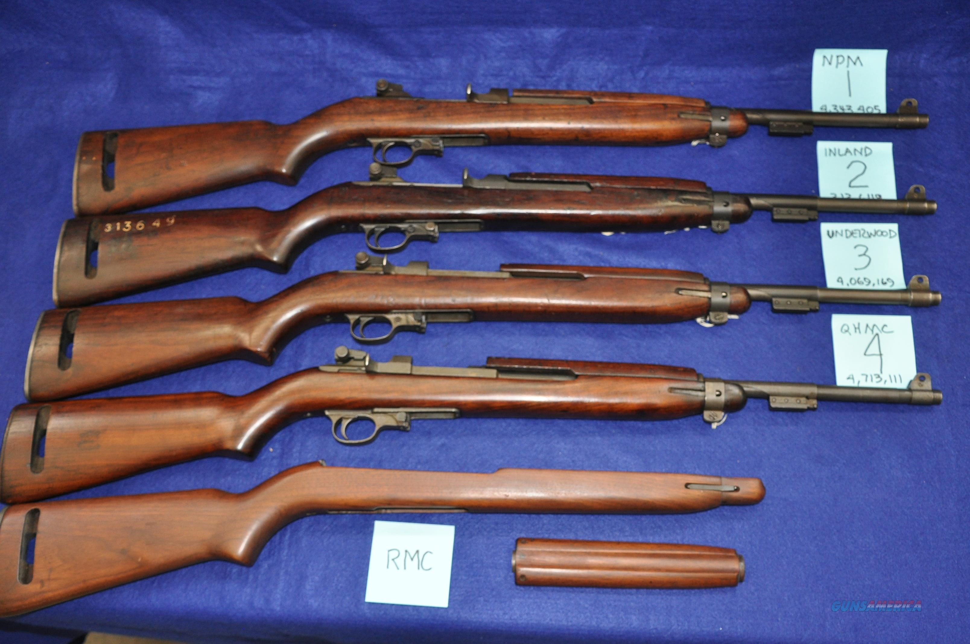 WWII M1 Carbines all arsenal reworks, all Davidsons imports, priced seperately   Guns > Rifles > Military Misc. Rifles US > M1 Carbine