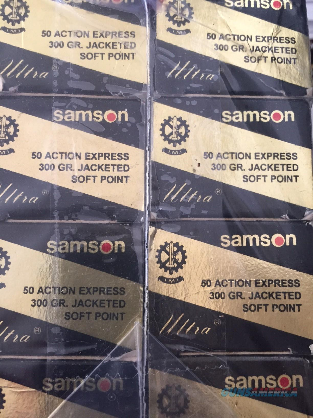 50AE NEW Factory Samson 300 gr JSP ammo 8.5 boxes  Non-Guns > Ammunition
