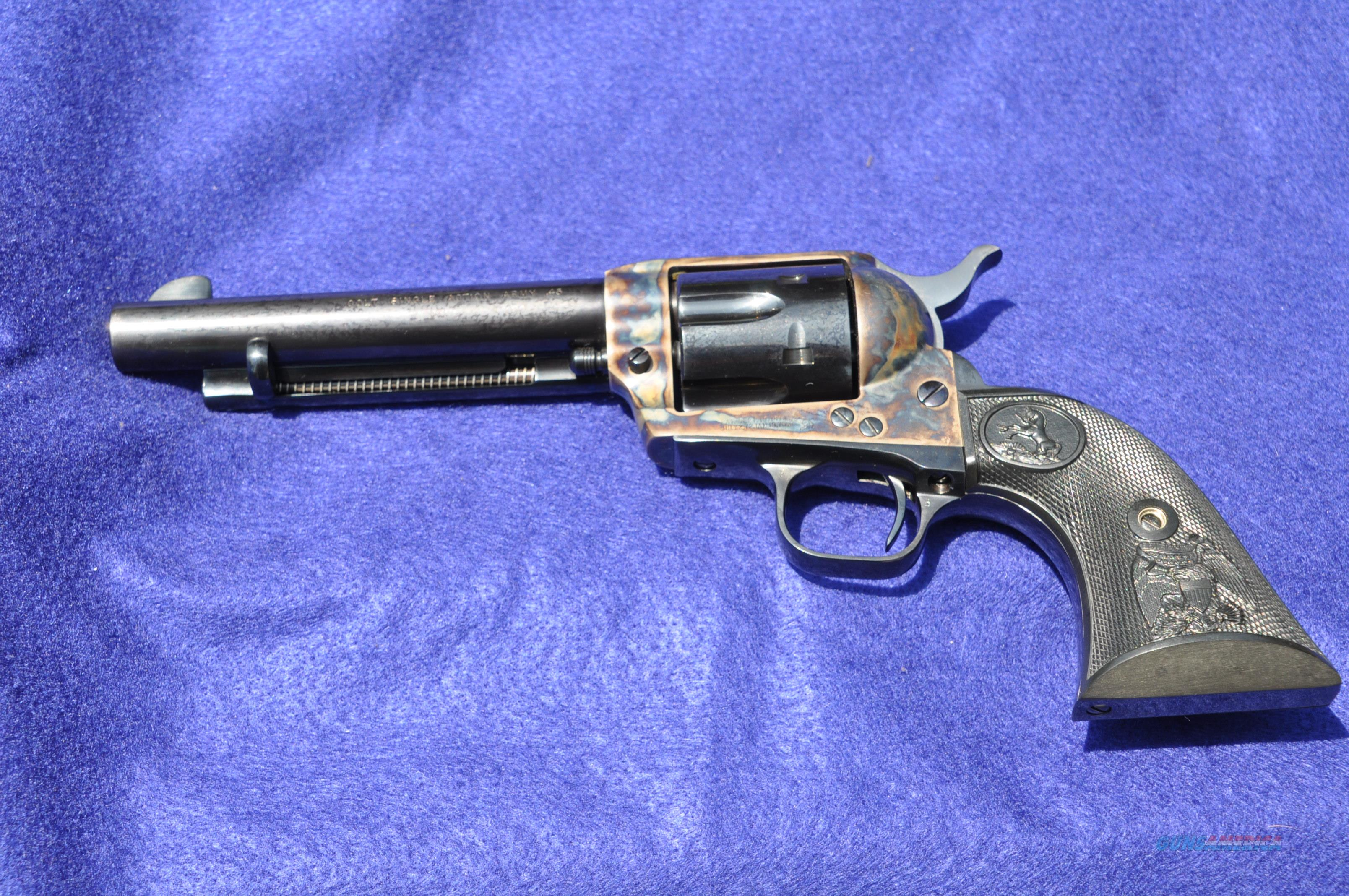 "COLT SAA Third Gen 5-1/2"" blue/color caseEagle grips NIB unfired, unturned   Guns > Pistols > Colt Single Action Revolvers - 3rd Gen."