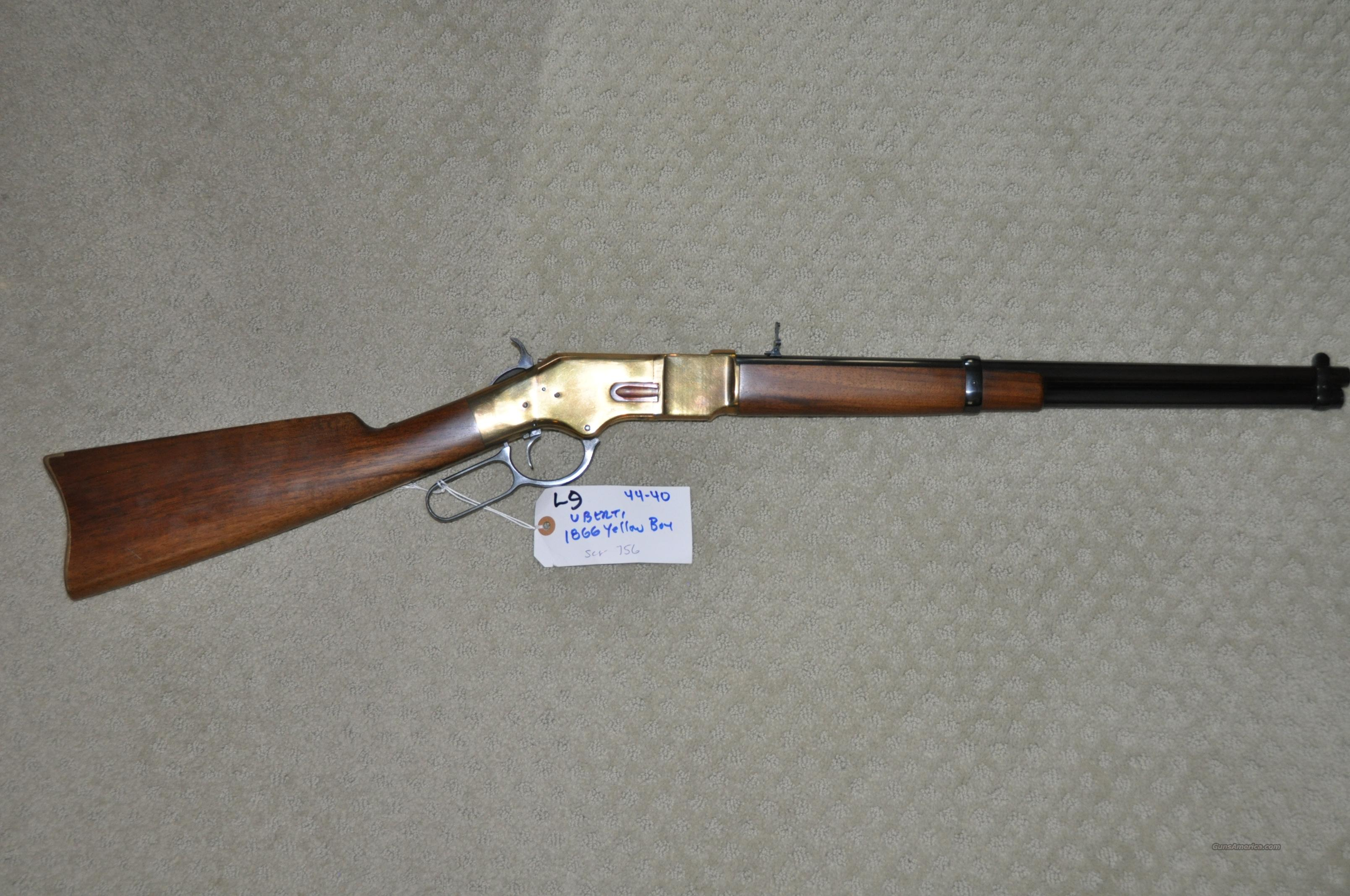 REDUCED... Early 1866 Yellowboy Carbine 44-40  estate sale  Guns > Rifles > Uberti Rifles > Lever Action