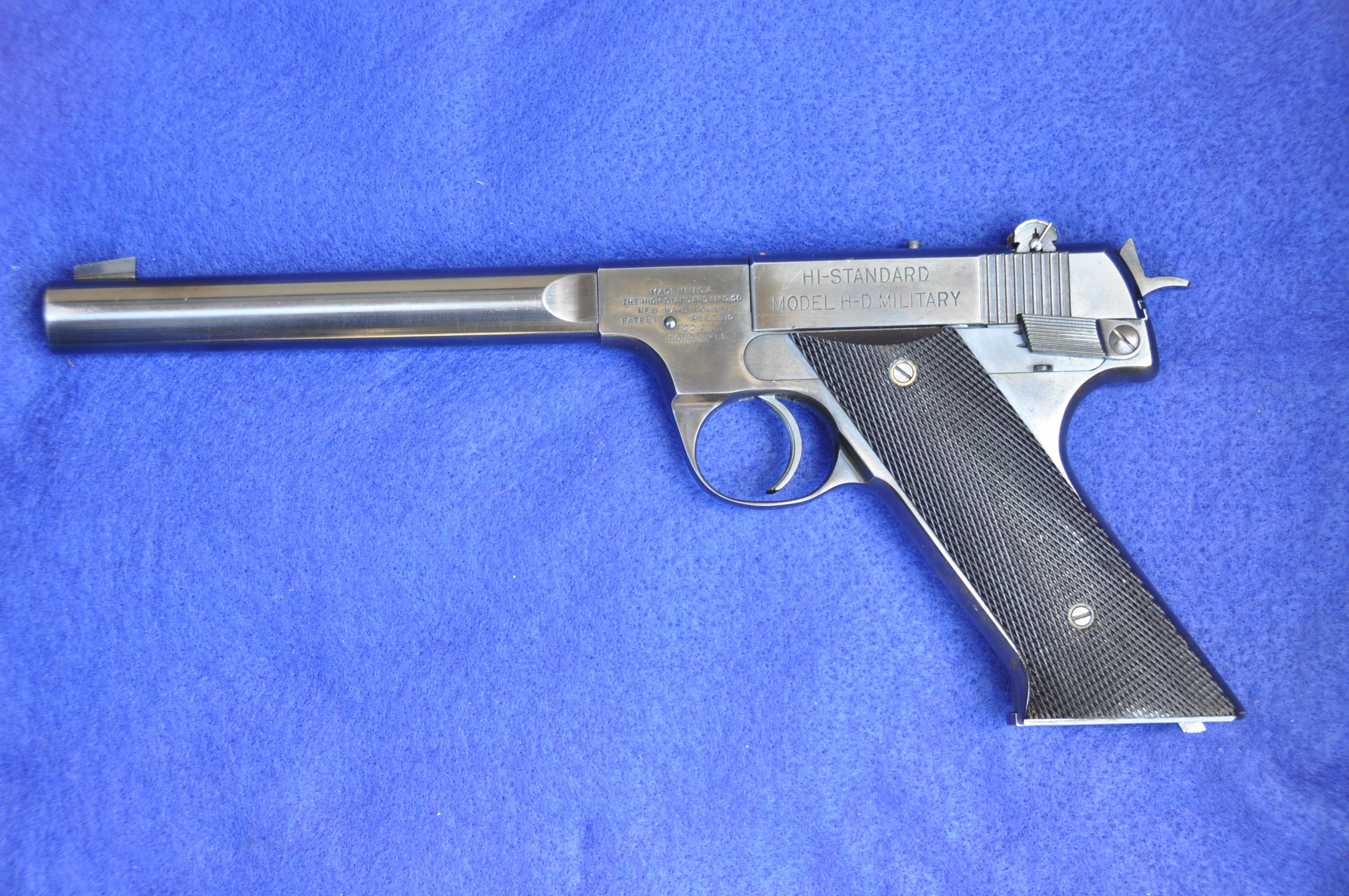 SOLD SOLD SOLD Early Model H-D MILITARY ser 146,xxx plastic grips  Guns > Pistols > High Standard Pistols