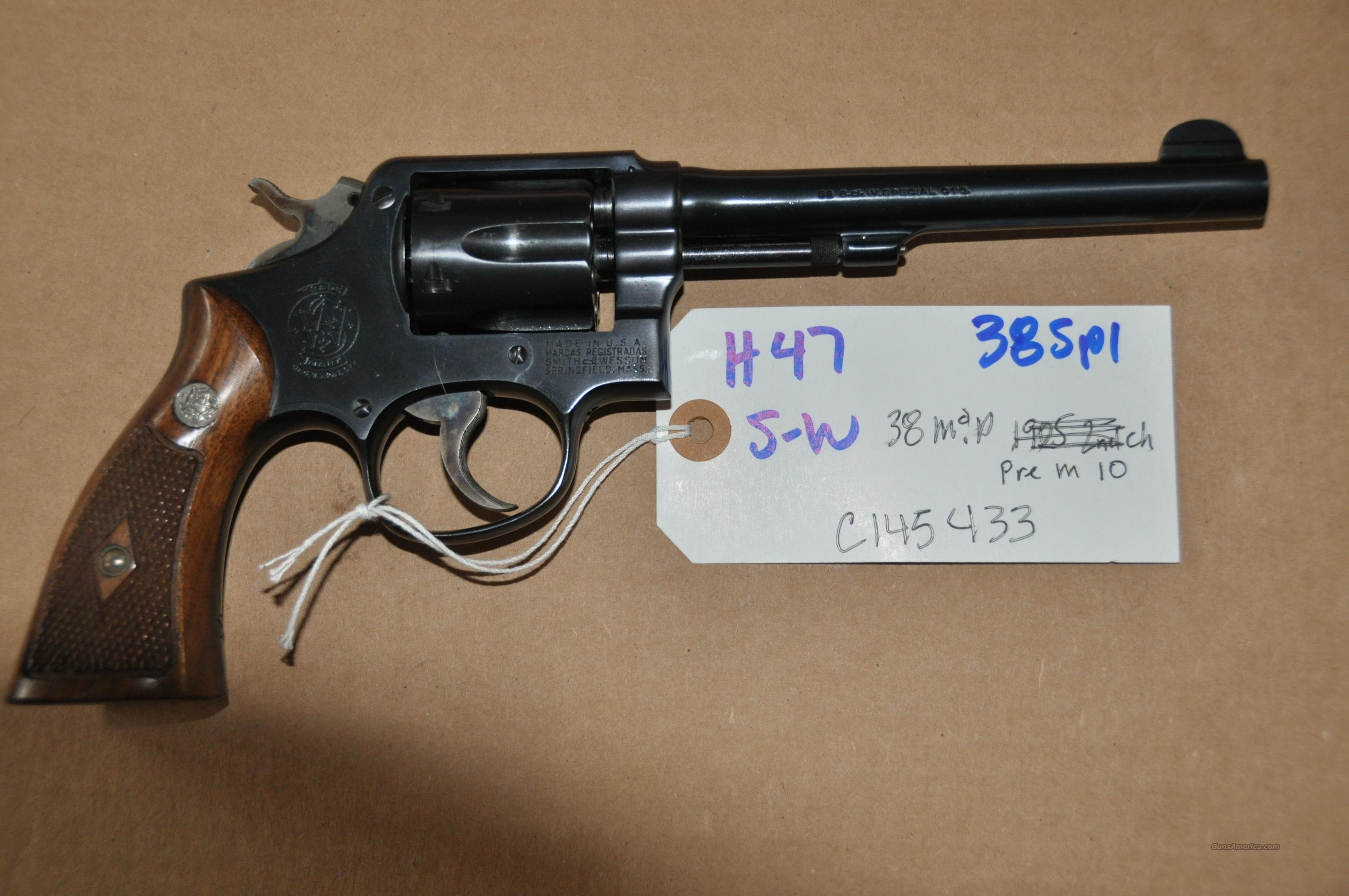 "REDUCED   Smith & Wesson Military & Police in Gold Box 6"" blue 38 SPL as new estate sale  Guns > Pistols > Smith & Wesson Revolvers > Model 10"
