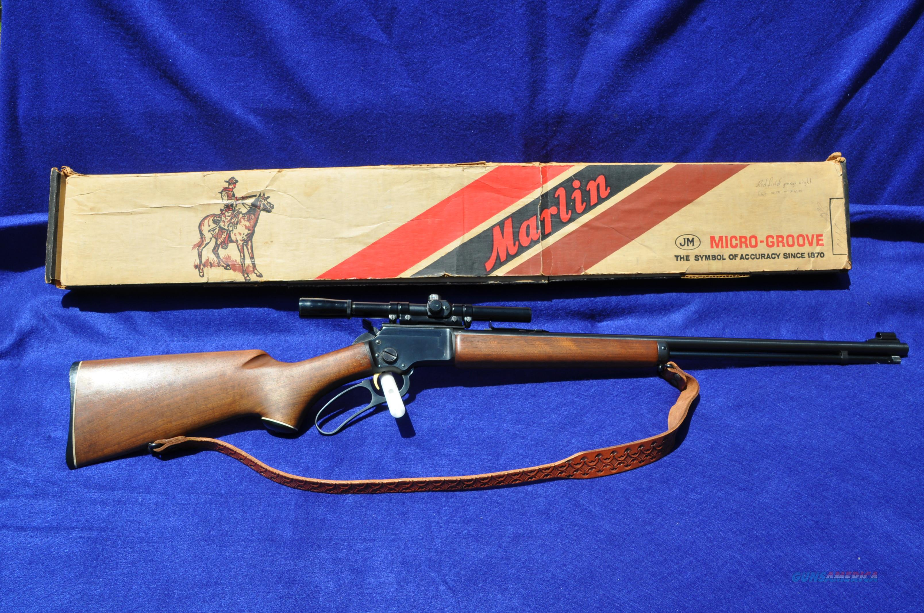 Marlin Golden 39A from 1966 with orig factory box!  Really nice rifle!  Guns > Rifles > Marlin Rifles > Modern > Lever Action