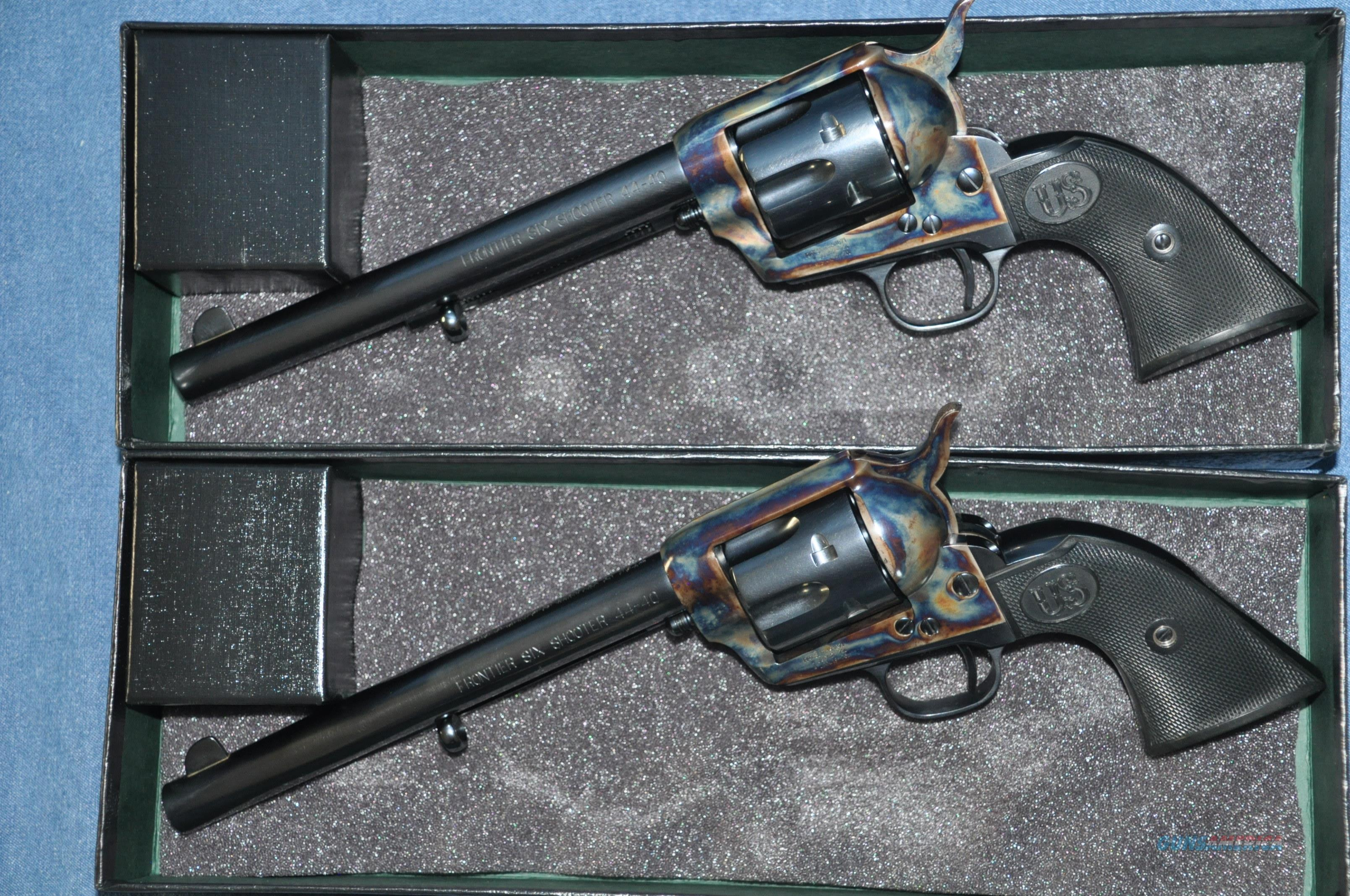 "USFA MFG Consecutive pair 44-40 ""Frontier Six Shooter"" revolvers  Guns > Pistols > United States Patent Firearms Revolvers/Pistols"