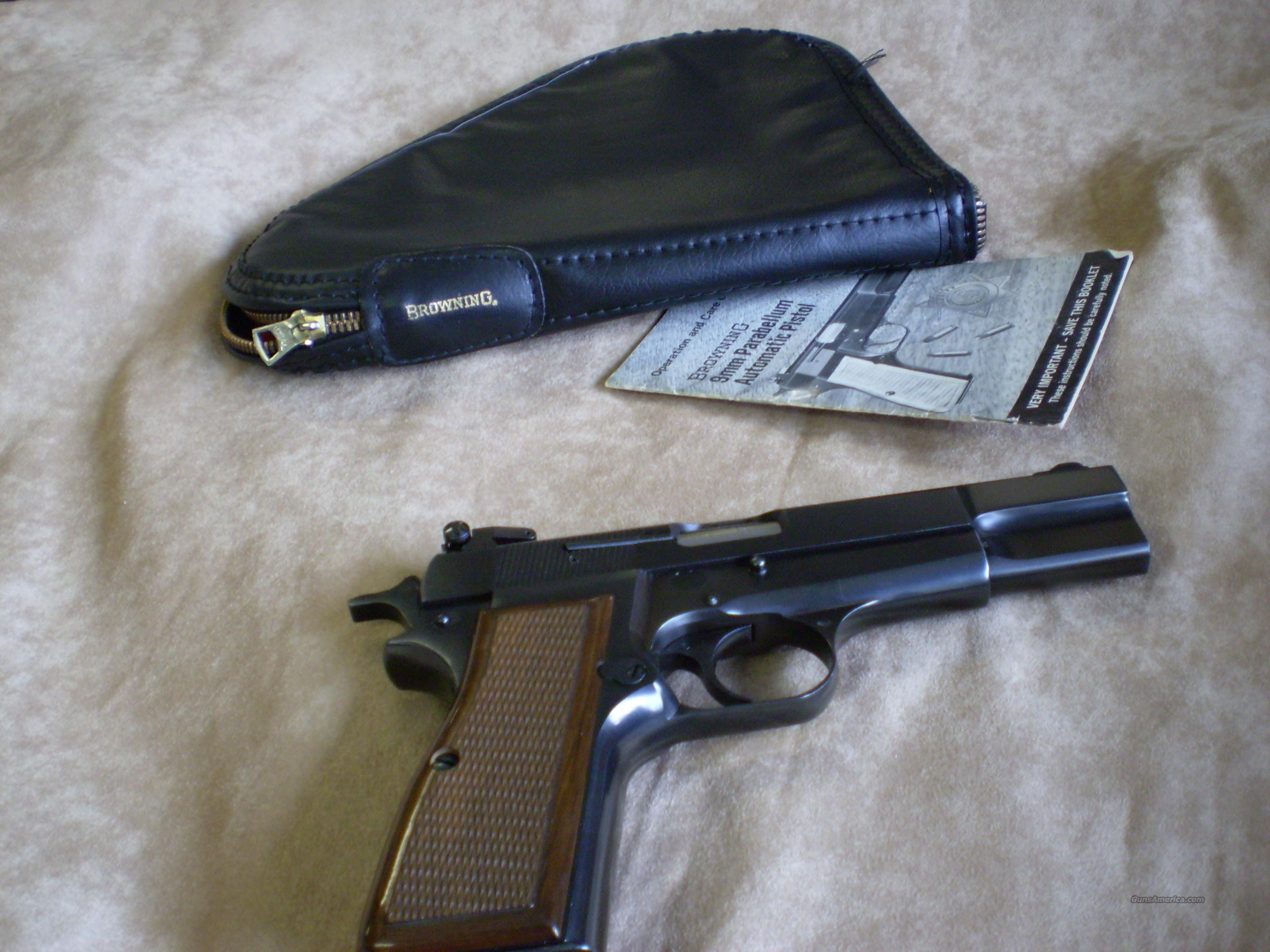 Browning HiPower 9mm Made in Belguim  Guns > Pistols > Browning Pistols > High Power