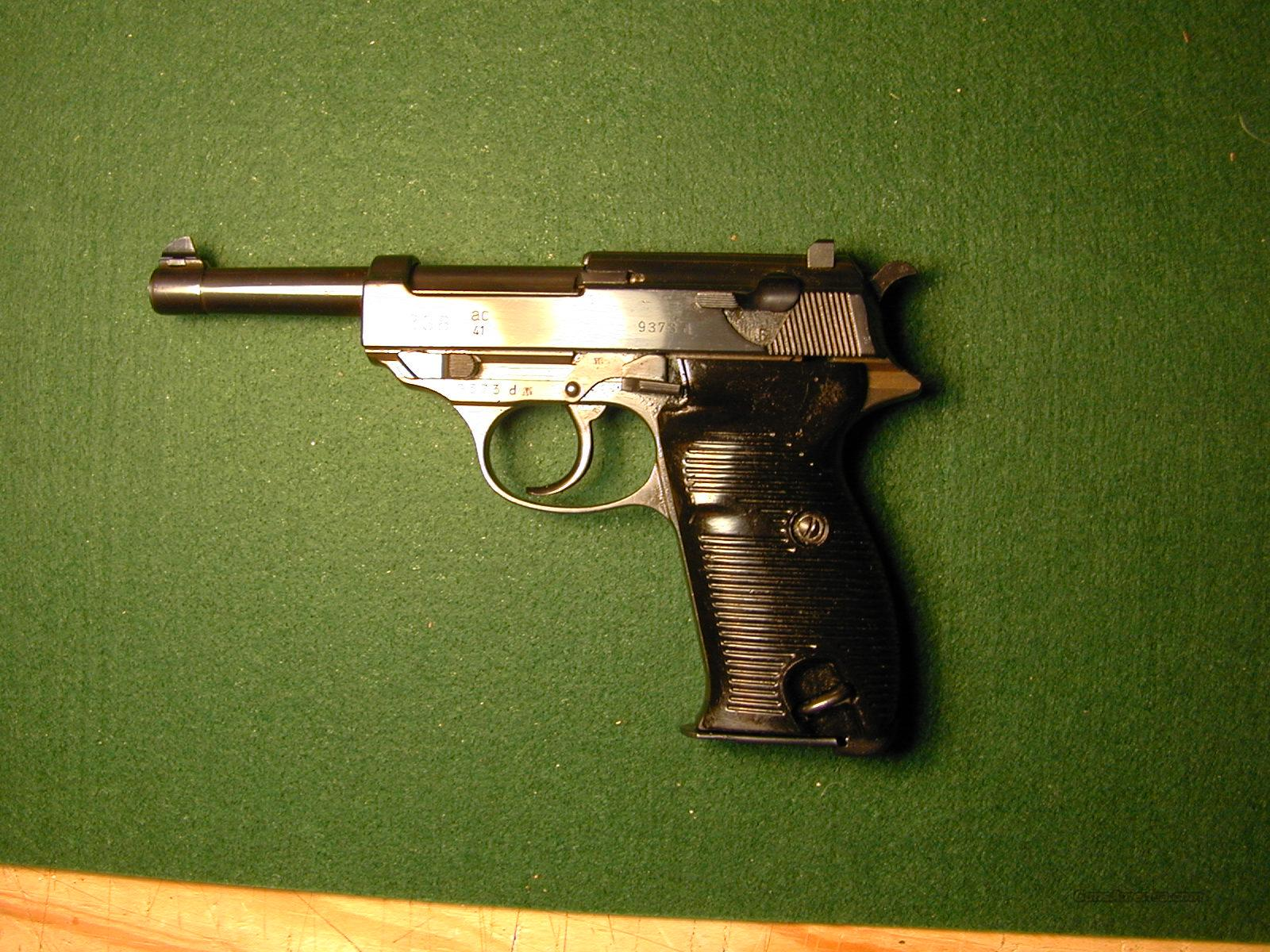 Walther P-38 AC-41 Semi Auto 9mm Pistol  Guns > Pistols > Walther Pistols > Post WWII > Large Frame Autos