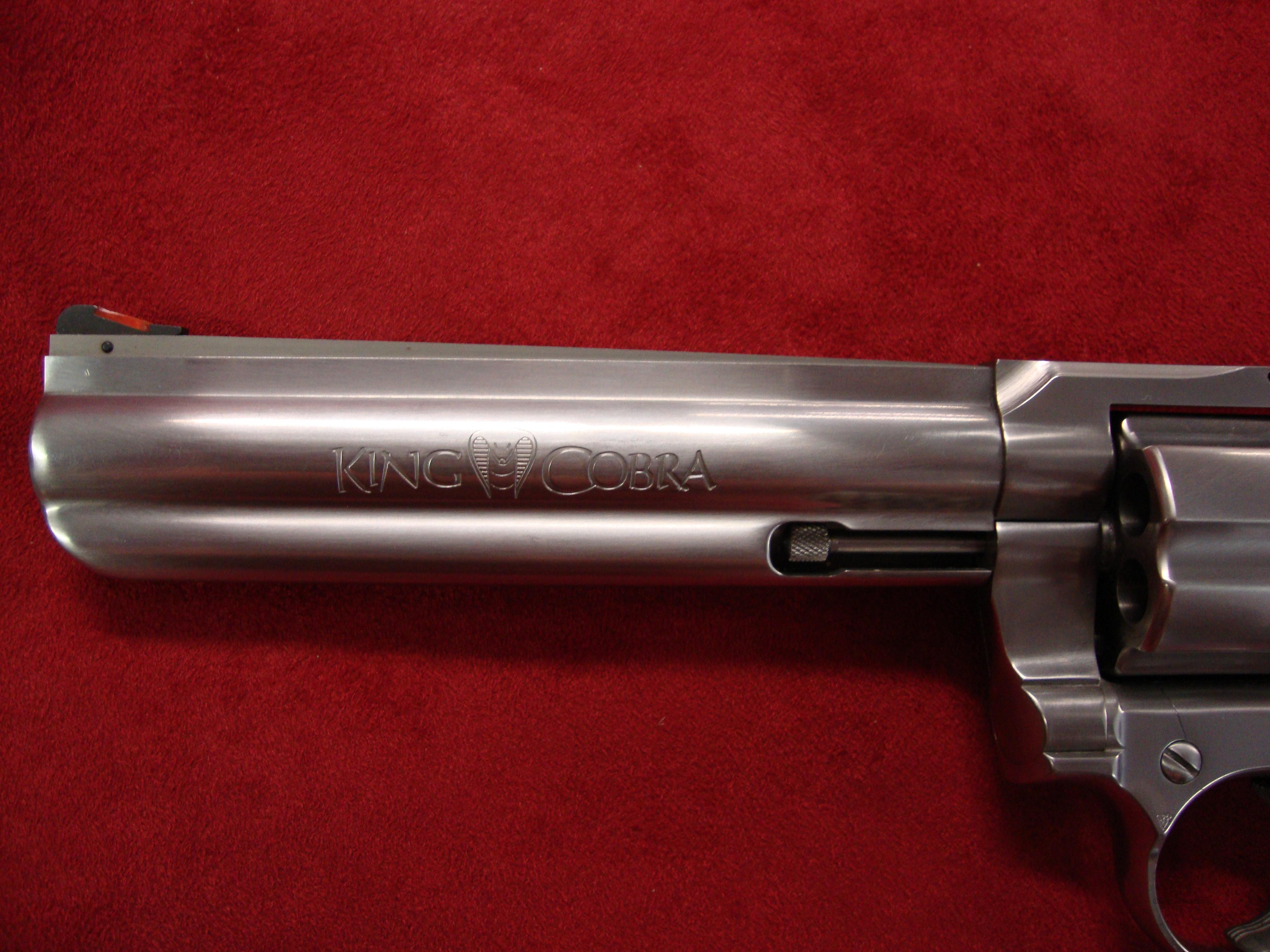 Colt King Cobra Stainless 357 Magnum  Guns > Pistols > Colt Double Action Revolvers- Modern