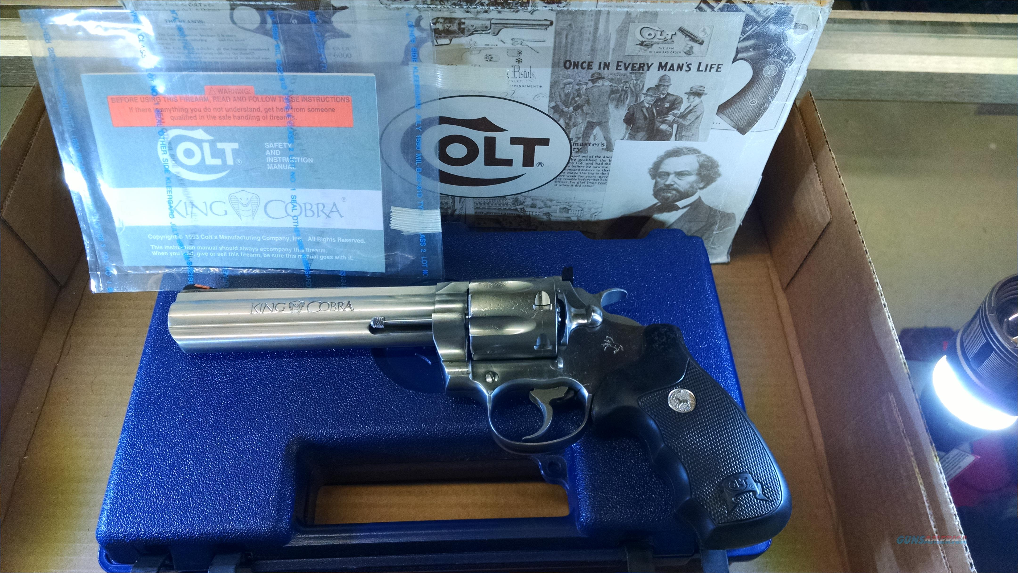 Colt King Cobra SS  Guns > Pistols > Colt Double Action Revolvers- Modern