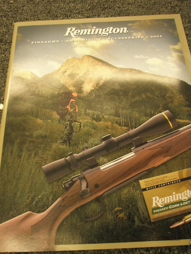 2004 Remington guns, ammo, accy catalogs  Non-Guns > Manuals - Print