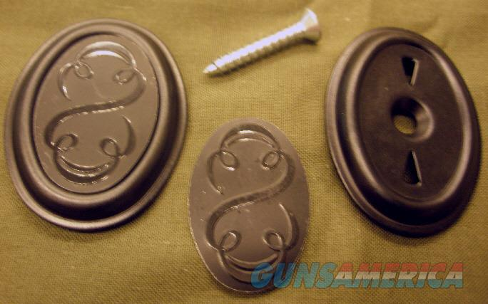 """Winchester """"scroll"""" pistol grip cap. 101 70A 37A 1500. Cap, insert & screw. NEW  Non-Guns > Gun Parts > Shotgun High Grade"""