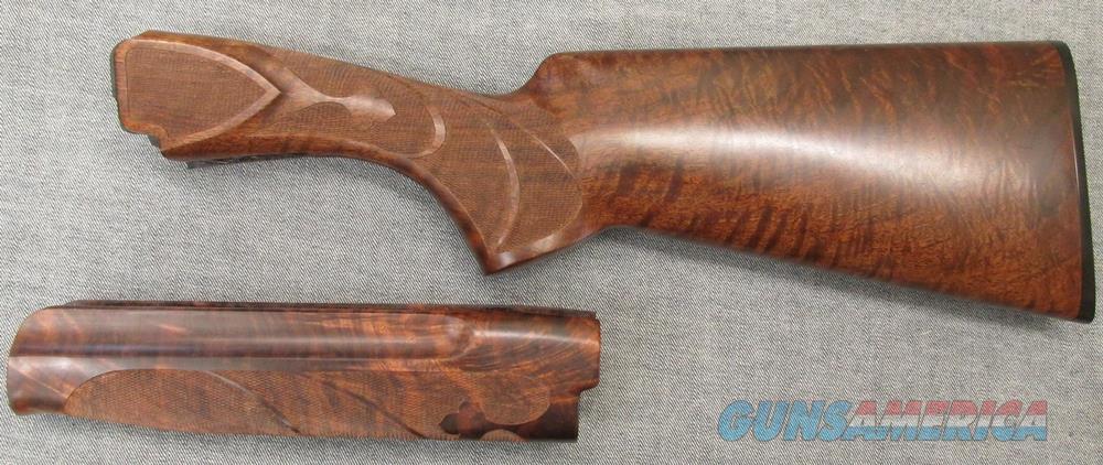 Winchester 101 Exhibition grade O/U wood set, new, custom checkered by Paul Lindke  Non-Guns > Gunstocks, Grips & Wood