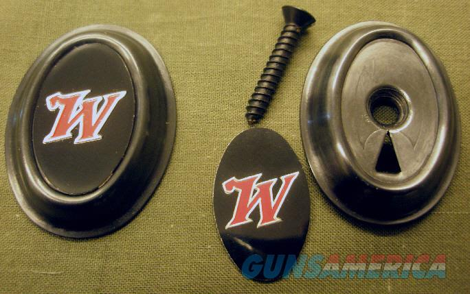 "Winchester ""Red W"" pistol grip cap. 101, 100, 88, 12. Cap, insert, screw. NEW  Non-Guns > Gun Parts > Shotgun High Grade"