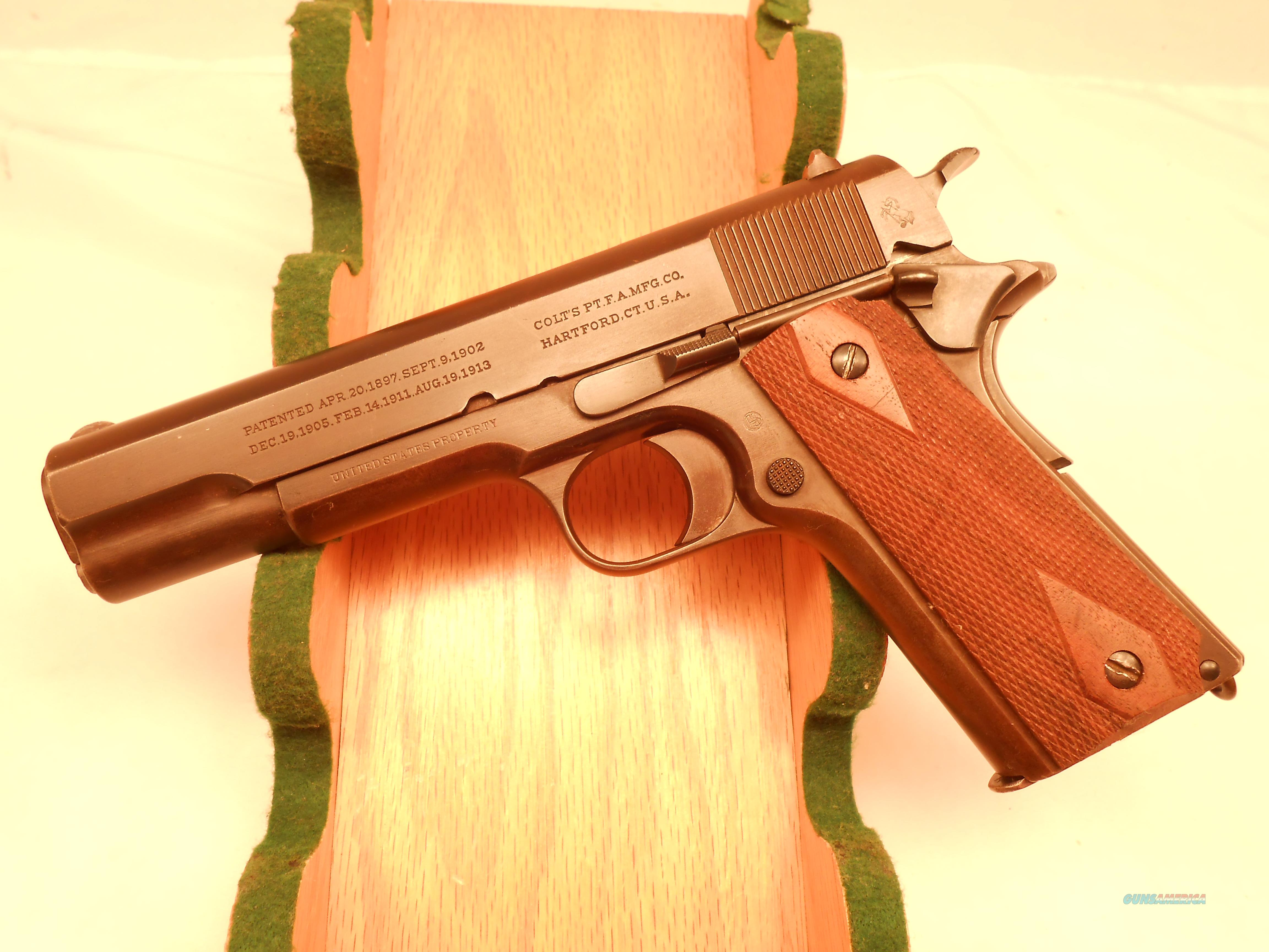 "Colt 1911 45acp Marked ""United States Property"" and ""Model of 1911  U.S. Army"" Made in 1917  Guns > Pistols > Colt Automatic Pistols (1911 & Var)"