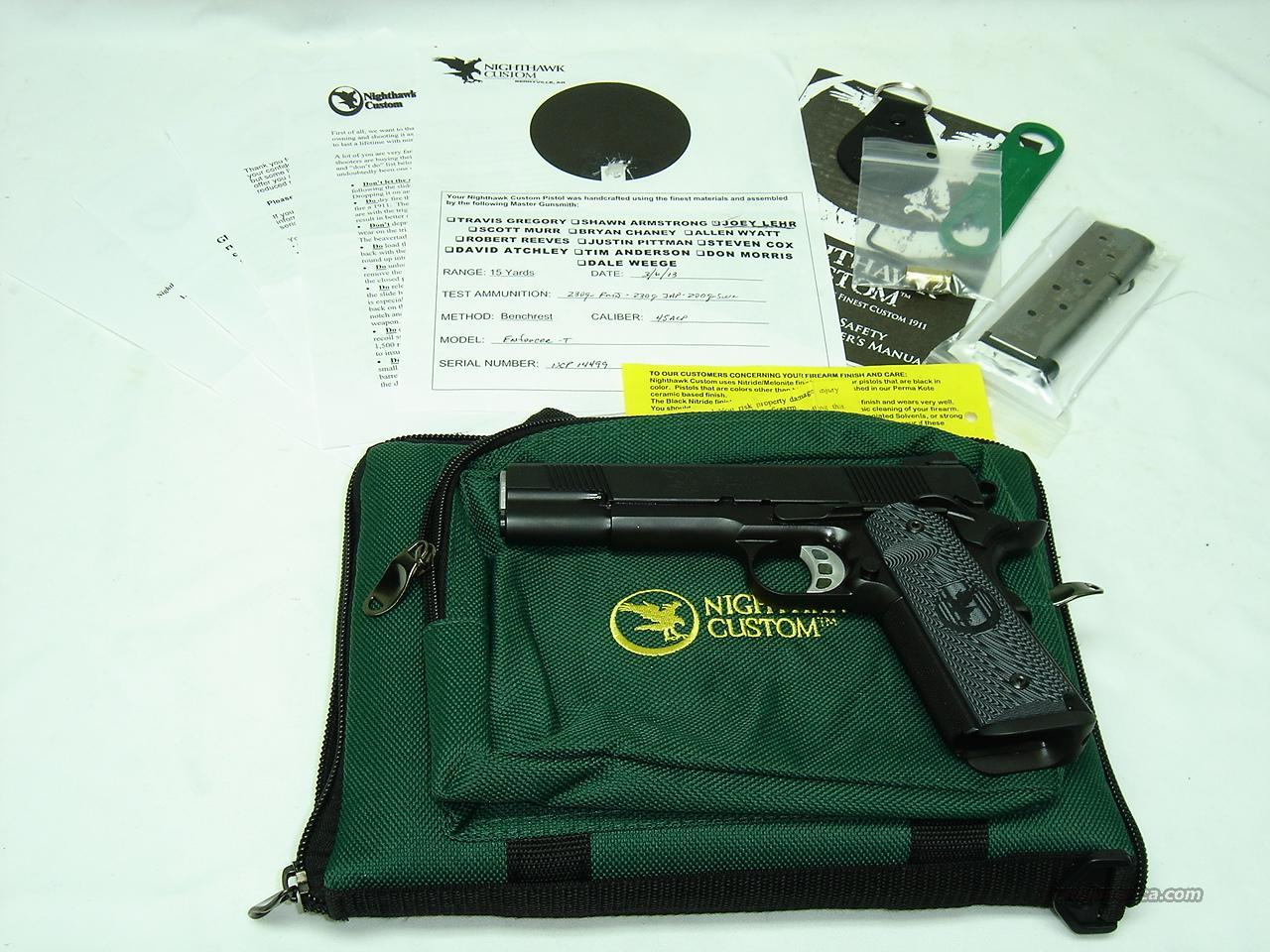"Nighthawk Custom 1911 ENFORCER 45 ACP 5""  Guns > Pistols > Nighthawk Pistols"