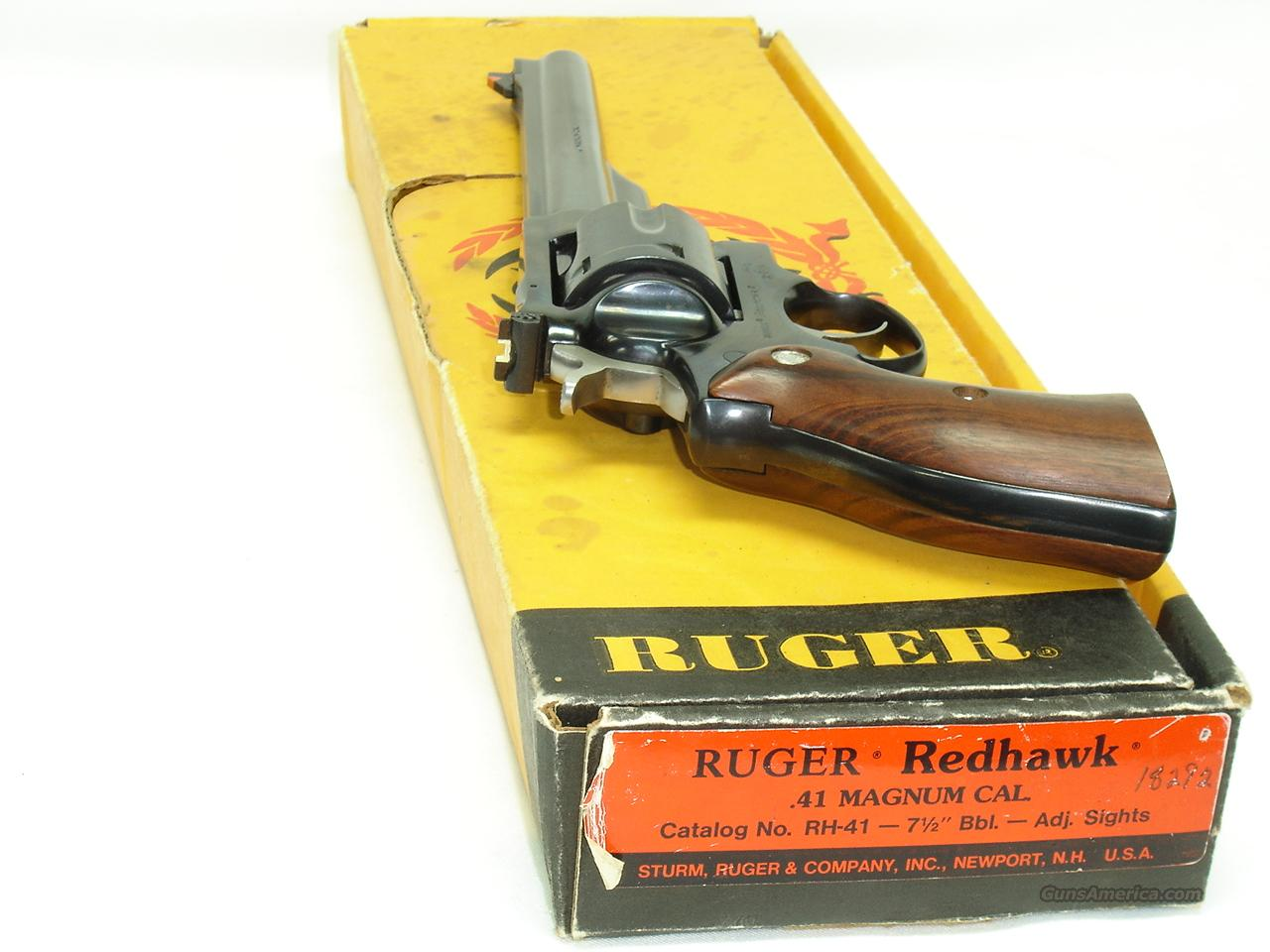 "Ruger Redhawk 41 Magnum 7.5"" bbl. Blue w/Box  Guns > Pistols > Ruger Double Action Revolver > Redhawk Type"