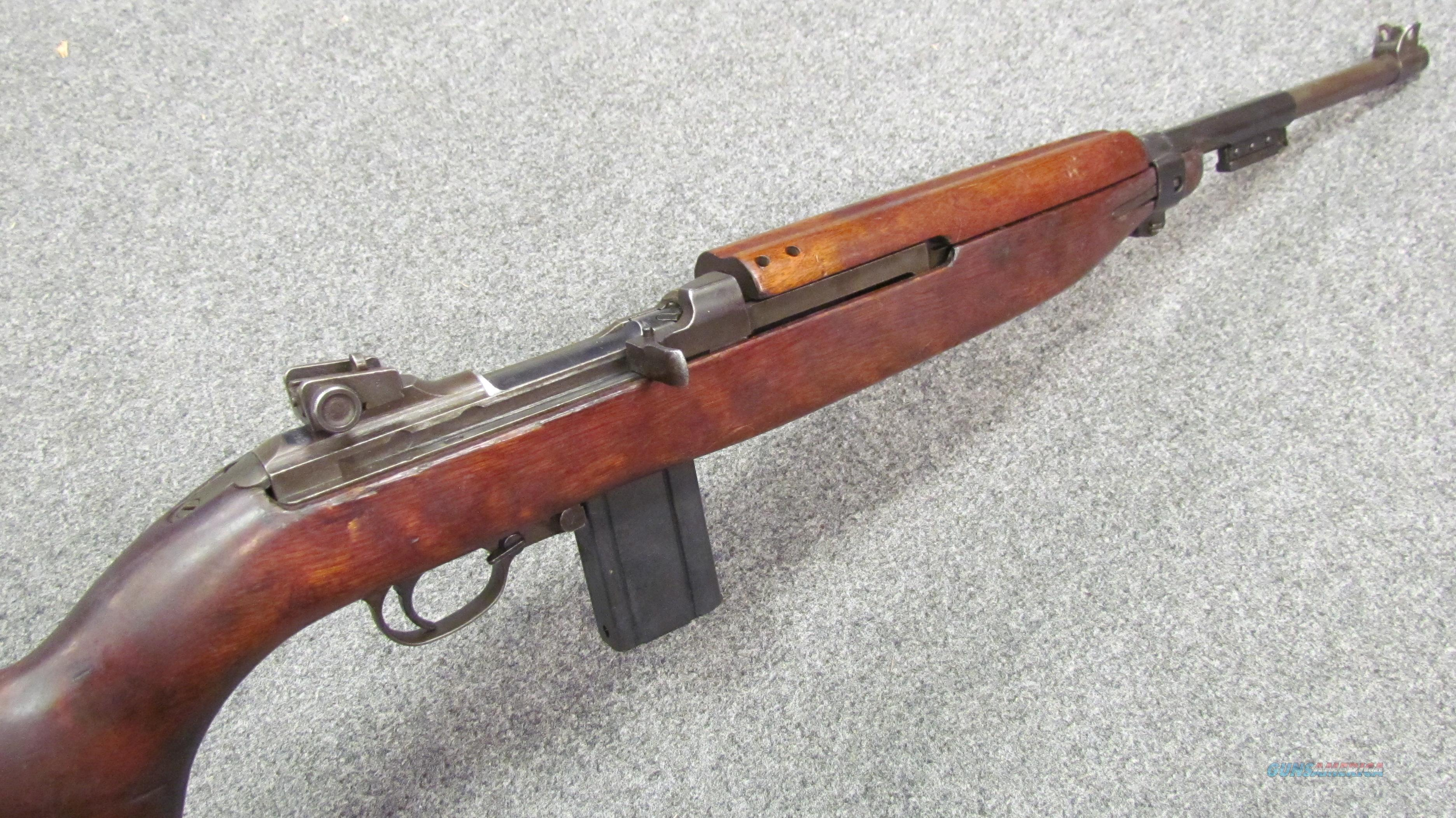 !* CLASSIC*! WWII  Underwood/ Inland M-1 Carbine Exc Bore! Good Wood! 1943 matching barrel! & O.B.O.!  Guns > Rifles > Military Misc. Rifles US > M1 Carbine