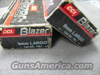2 BOXES BLAZER 9mm LARGO 124 grn  Non-Guns > Ammunition