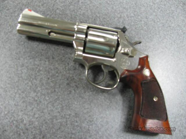 SCARCE S&W BRIGHT NICKLE 586 4 in Excellent!  Guns > Pistols > Smith & Wesson Revolvers > Full Frame Revolver