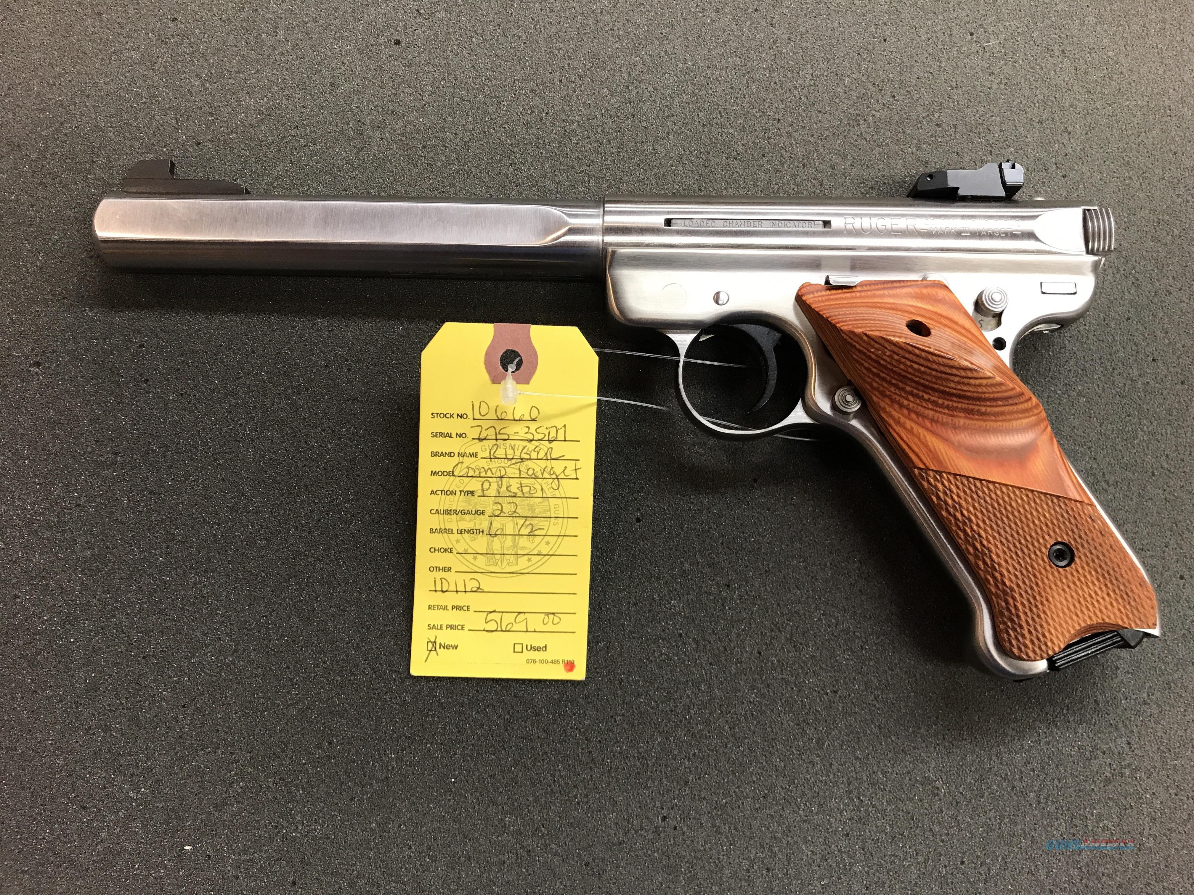 NEW RUGER MK III TARGET SLAB SIDE!!!  Guns > Pistols > Ruger Semi-Auto Pistols > Mark I/II/III/IV Family