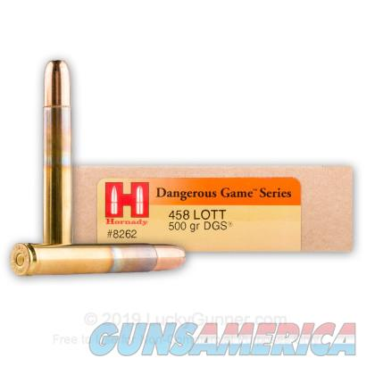 458 LOTT 500 gr DGS by Hornady  Non-Guns > Ammunition