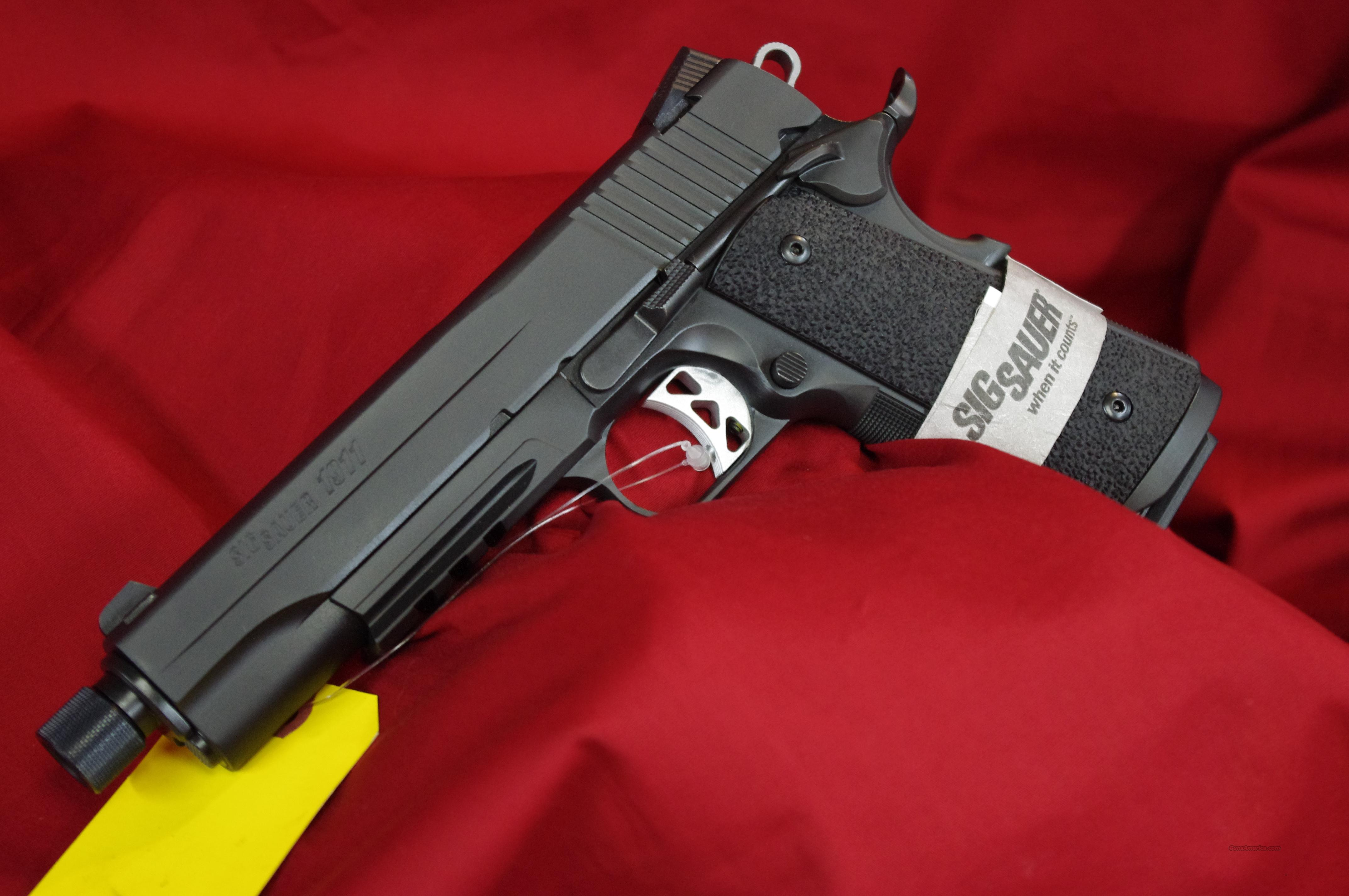 Sig Sauer Tac Ops 1911 With Threaded Barrel!  Guns > Pistols > Sig - Sauer/Sigarms Pistols > 1911