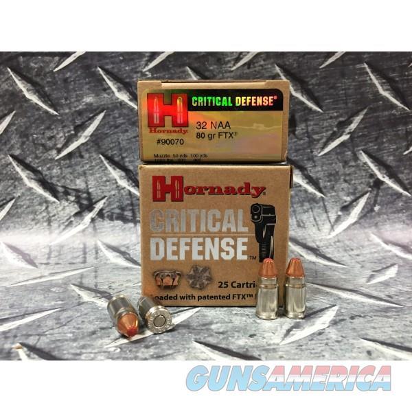 32 NAA Hornady Critical Defense 80 gr FTX  Non-Guns > Ammunition