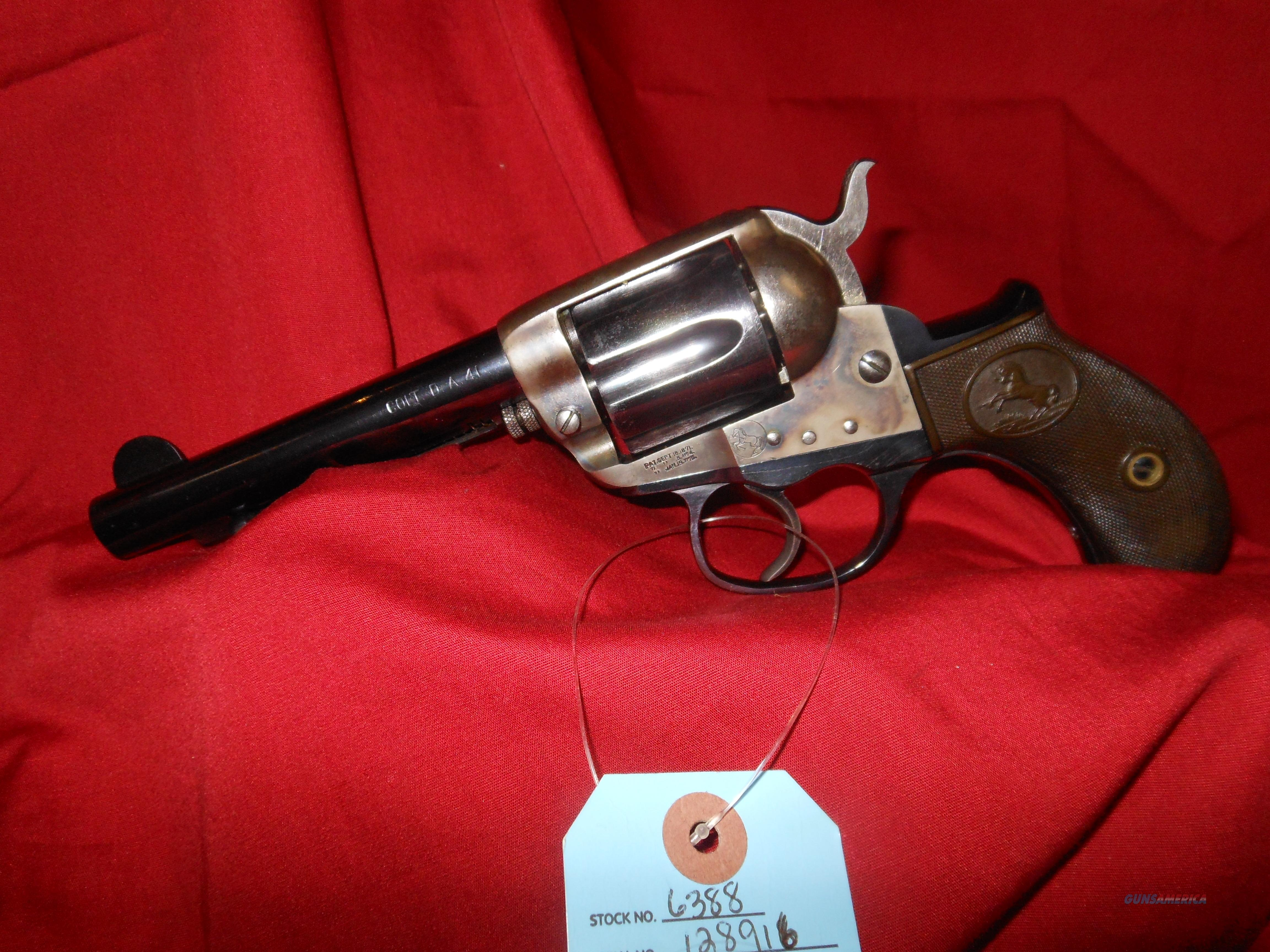 Colt Thunderer in 41LC made 1901!!!  Guns > Pistols > Colt Double Action Revolvers- Pre-1945