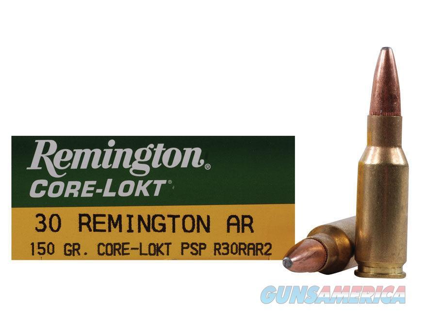 30 Remington AR 150 gr Core-Lokt PSP  Non-Guns > Ammunition
