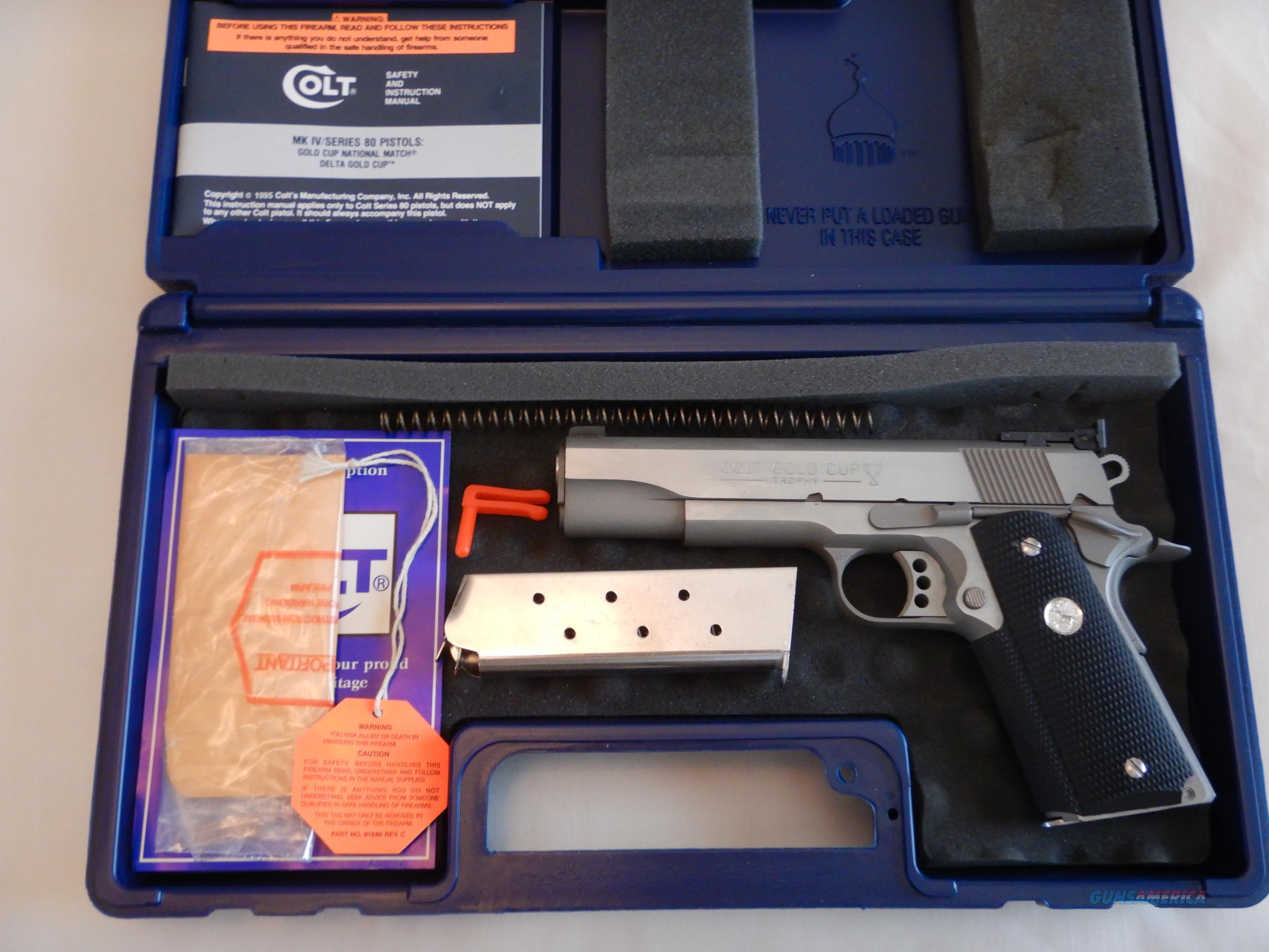 NIB Colt Stainless Steel Gold Cup Trophy  Guns > Pistols > Colt Automatic Pistols (1911 & Var)