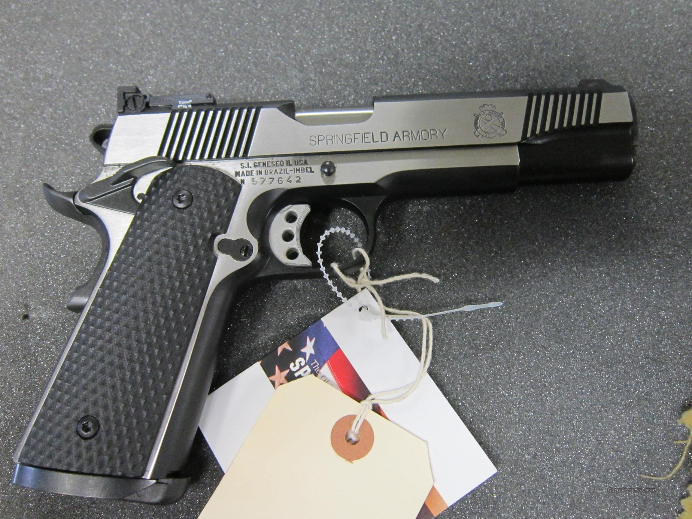 Springfield Armory 19111 Loaded Black Stainless Target  Guns > Pistols > Springfield Armory Pistols > 1911 Type