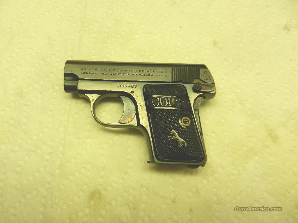 Colt Model 1908 .25 ACP Made 1923  Guns > Pistols > Colt Automatic Pistols (.25, .32, & .380 cal)