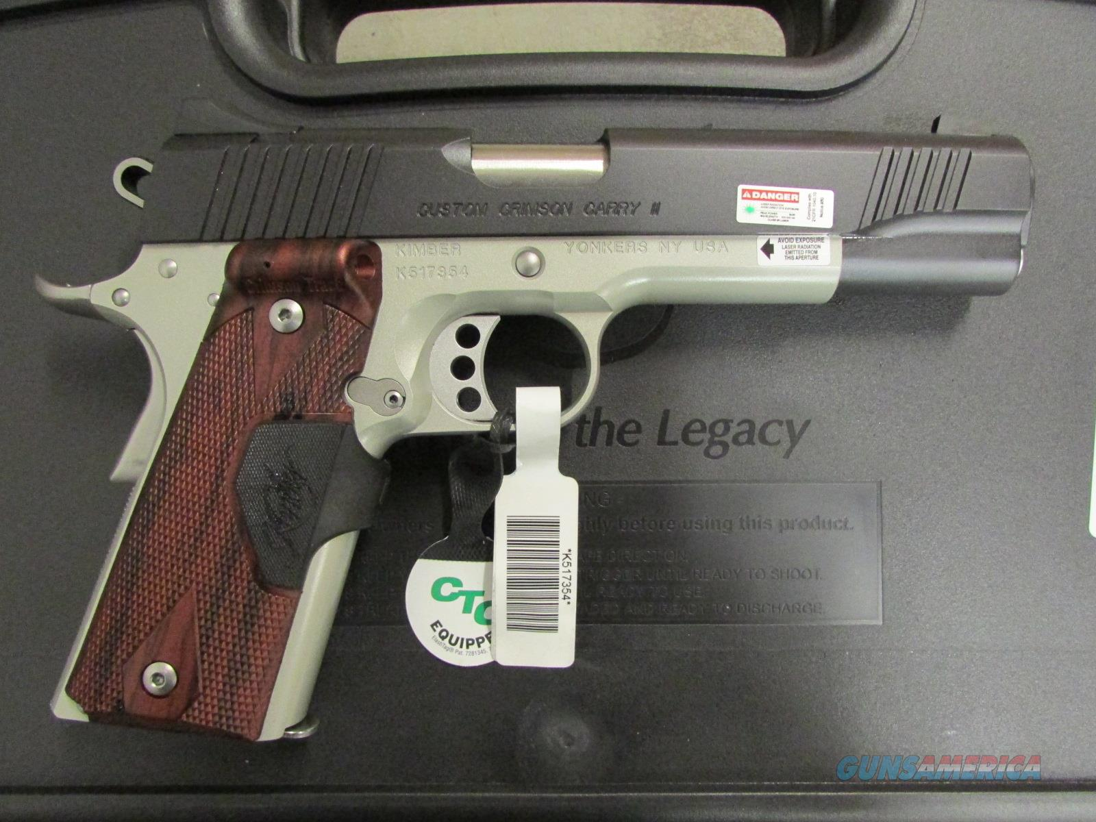 Kimber Custom Crimson Carry II Green Laser 1911 .45 ACP 3200288 Guns > Pistols >  Kimber of America Pistols > 1911