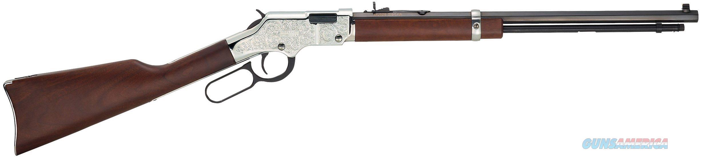 HENRY SILVER EAGLE ENGRAVED .22 S/L/LR H004SE  Guns > Rifles > Henry Rifle Company