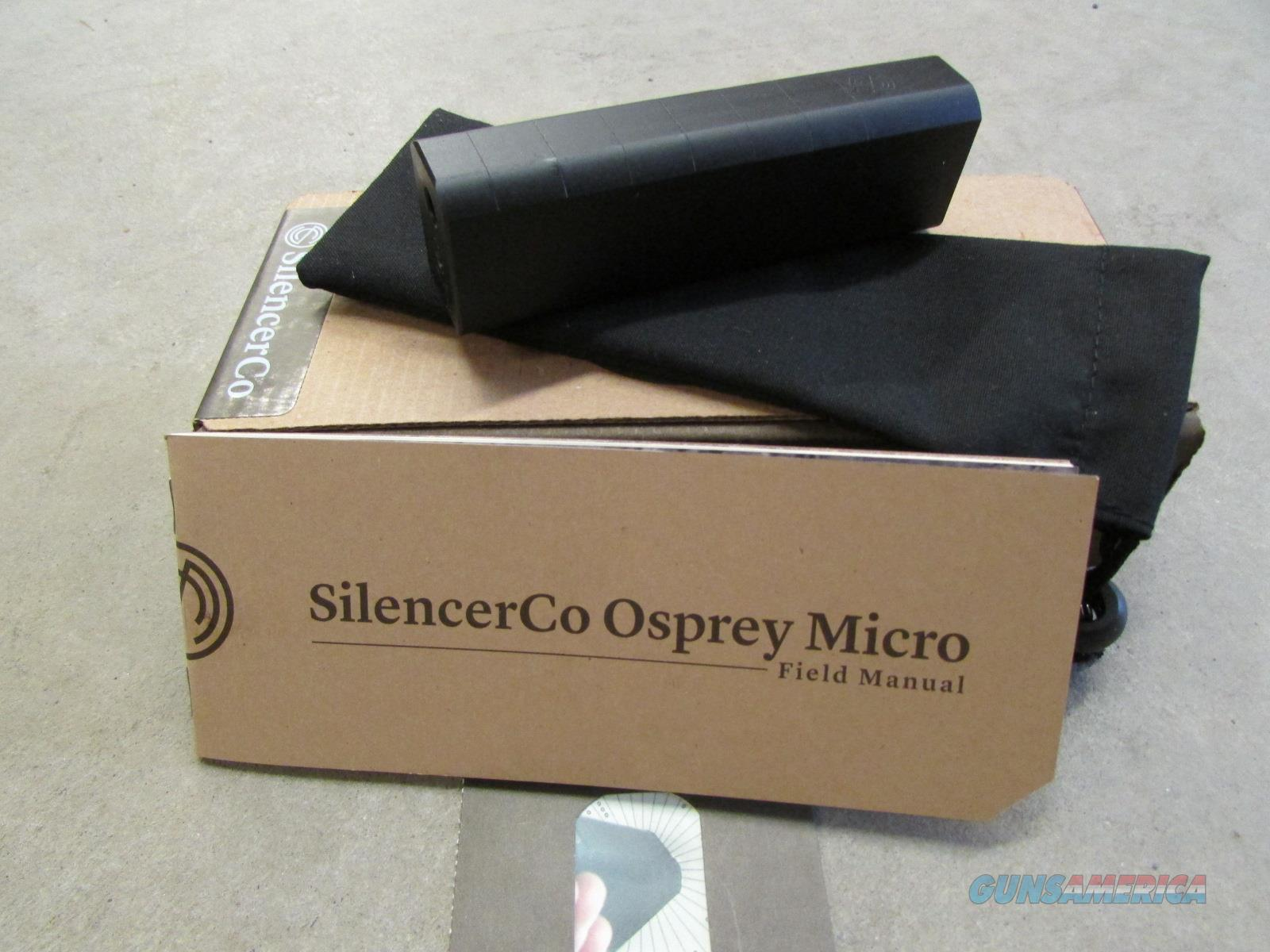 SILENCERCO OSPREY MICRO .22 LR SILENCER/SUPPRESSOR SU-1504   Guns > Rifles > Class 3 Rifles > Class 3 Suppressors