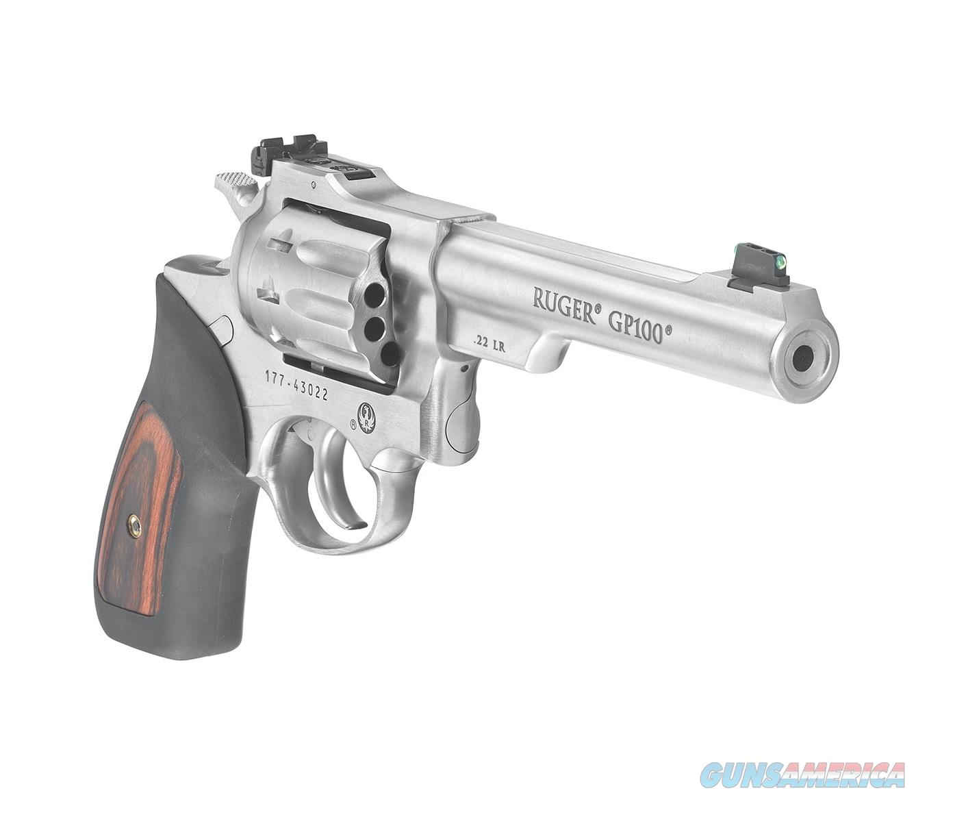 Ruger GP100 Standard Double-Action Stainless .22 LR SKU: 1757  Guns > Pistols > Ruger Double Action Revolver > GP100