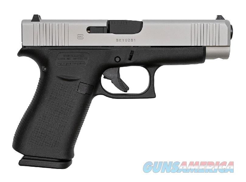 "Glock 48 9mm 4.17"" Night Sights 10 Rds Black/Silver PA485SL701  Guns > Pistols > Glock Pistols > 19/19X"