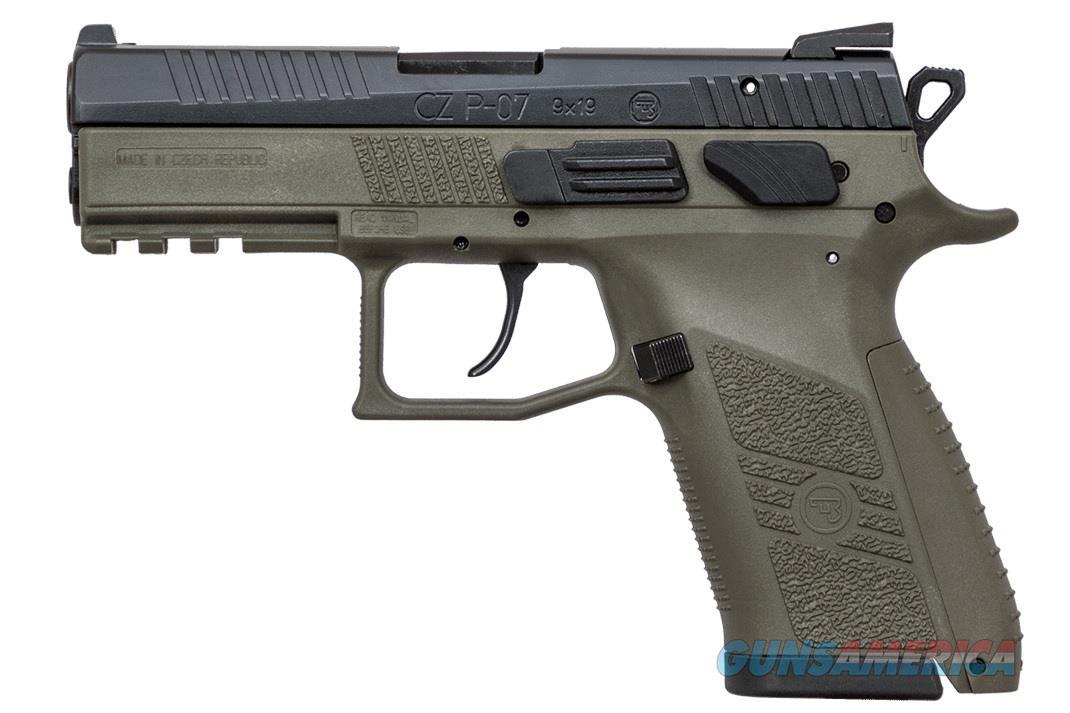 """CZ-USA CZ P-07 OD Green 9mm 3.75"""" Tritium Night Sights 91077   Guns > Pistols > CZ Pistols"""