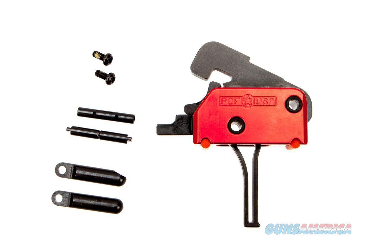 POF-USA AR-15 M4 DROP-IN SINGLE STAGE FLAT TRIGGER SKU: 00858  Non-Guns > Gun Parts > M16-AR15 > Upper Only