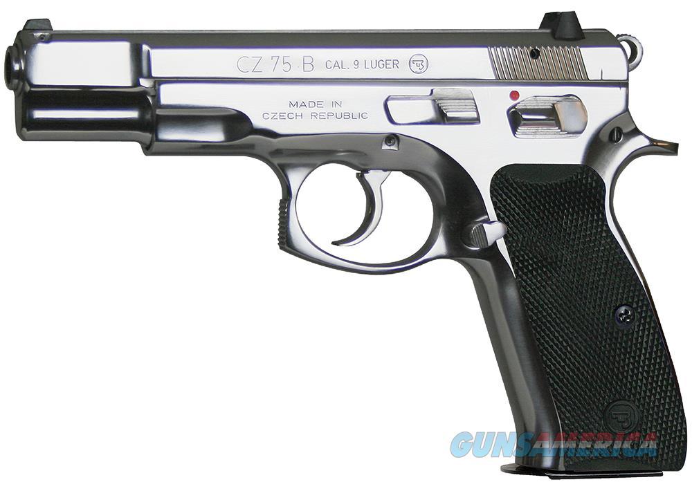 "CZ-USA CZ 75 B 9mm High Polished Stainless 4.6"" 91108   Guns > Pistols > CZ Pistols"