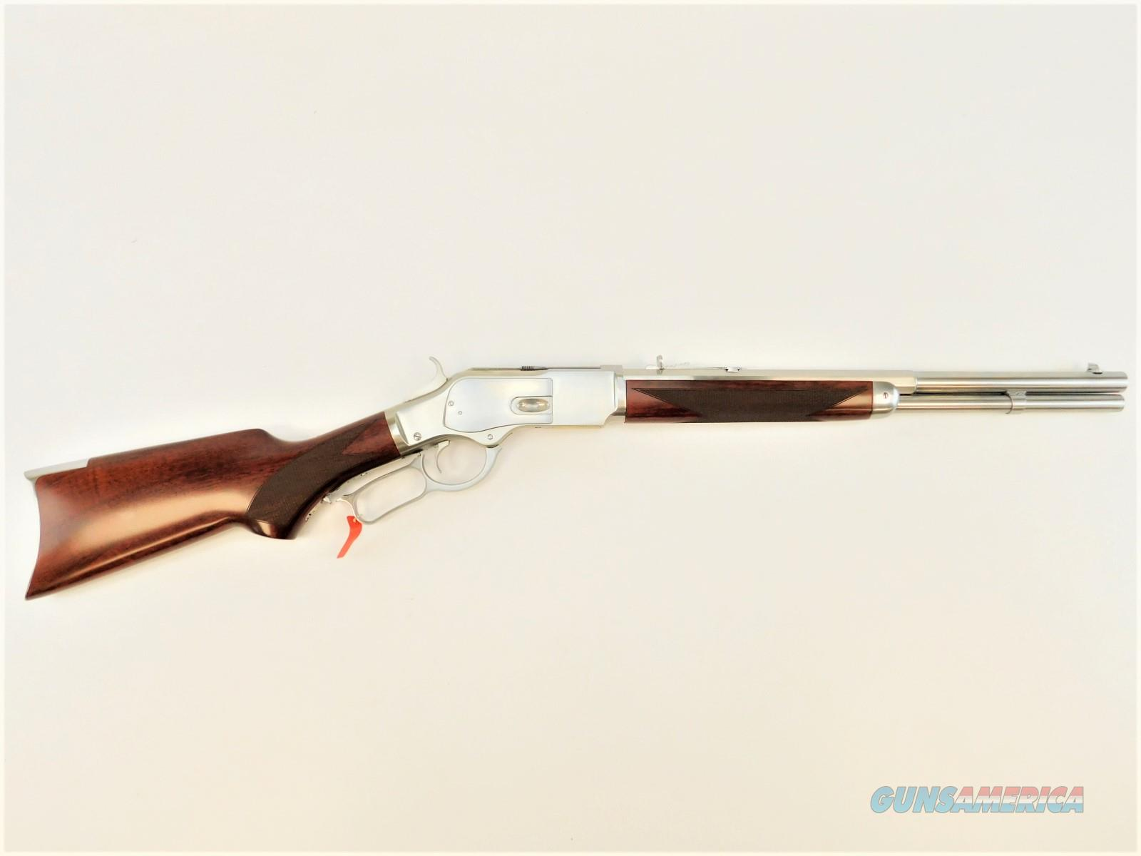"""Taylor's & Co. 1873 White with Pistol Grip .357 Magnum 18"""" 2025W03  Guns > Rifles > Taylors & Co. Rifles > Winchester Lever Type"""