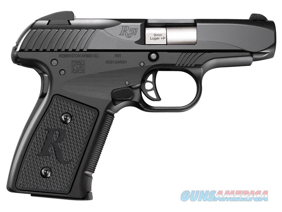 "Remington R51 9mm(+P) Pistol 3.4"" 7 Rounds 96430   Guns > Pistols > Remington Pistols - Modern > R51"