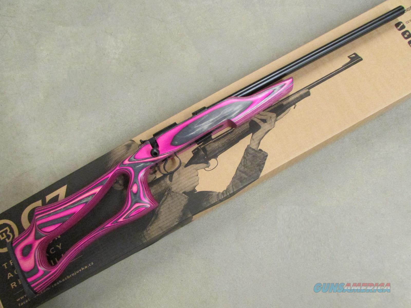 CZ-USA CZ 455 Varmint Evolution Pink Laminate .22LR 02248  Guns > Rifles > CZ Rifles
